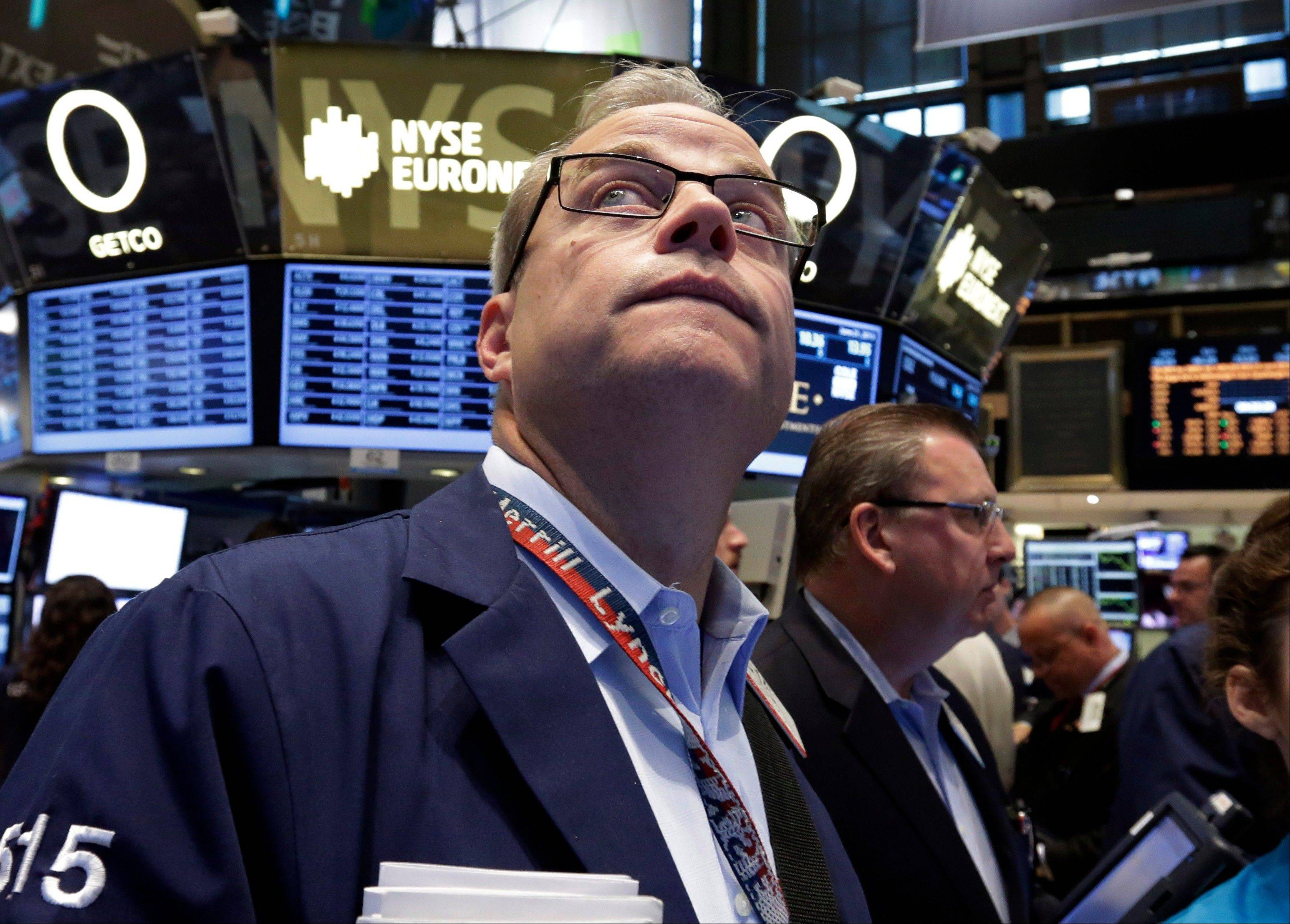 U.S. stocks fell Monday, sending the Standard & Poor�s 500 Index to a nine-week low, after Chinese equities entered a bear market amid concern a cash crunch will hurt growth and as investors weighed the impact of a possible reduction in the Federal Reserve�s monetary stimulus.