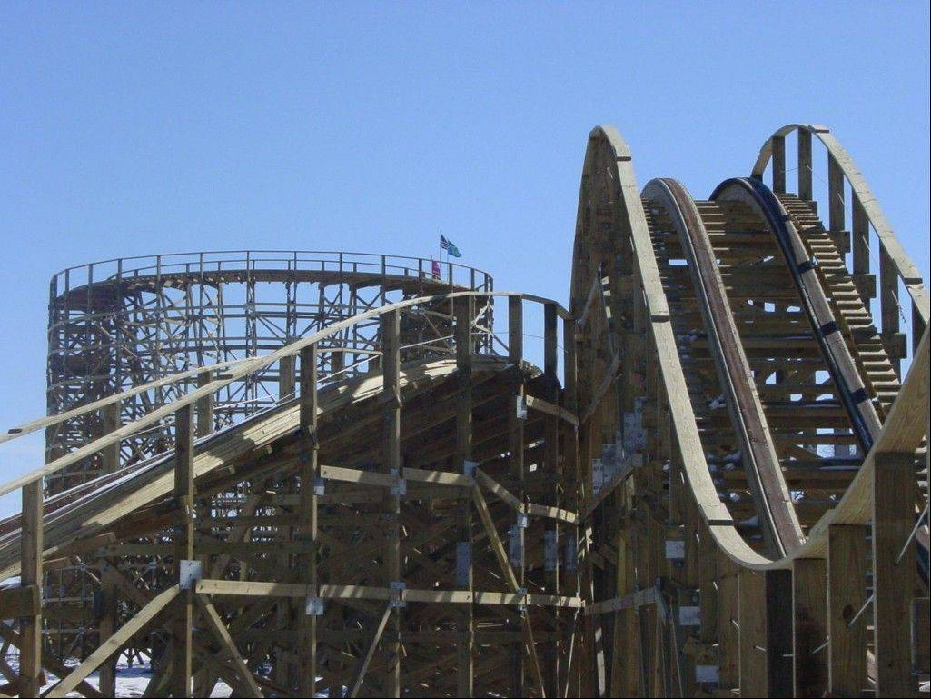 The Zippin Pippin roller coaster in Green Bay