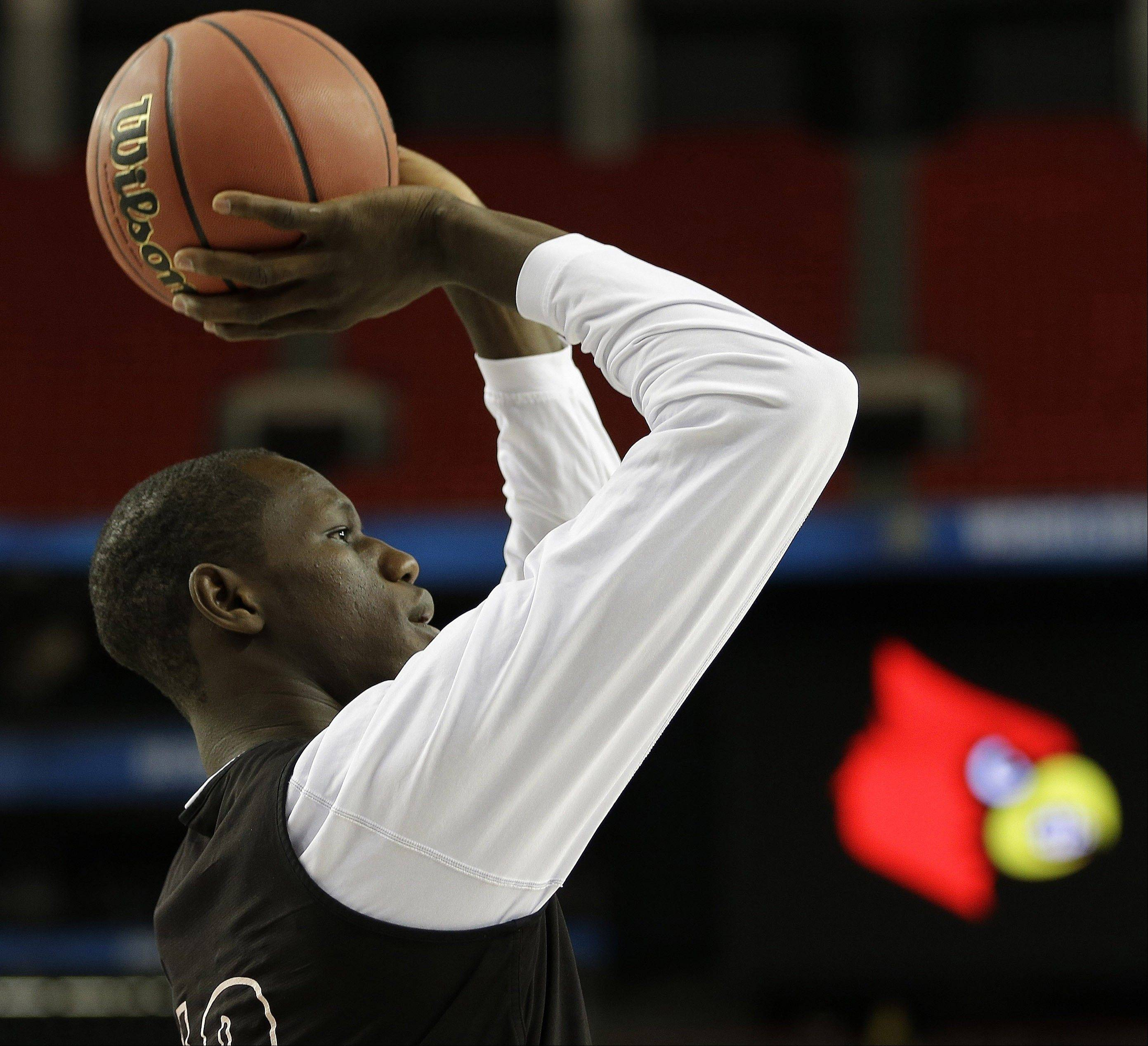 Louisville center Gorgui Dieng could be available when the Bulls make their first-round pick in Thursday's NBA draft, and could give Chicago a nice backup to Joakim Noah.