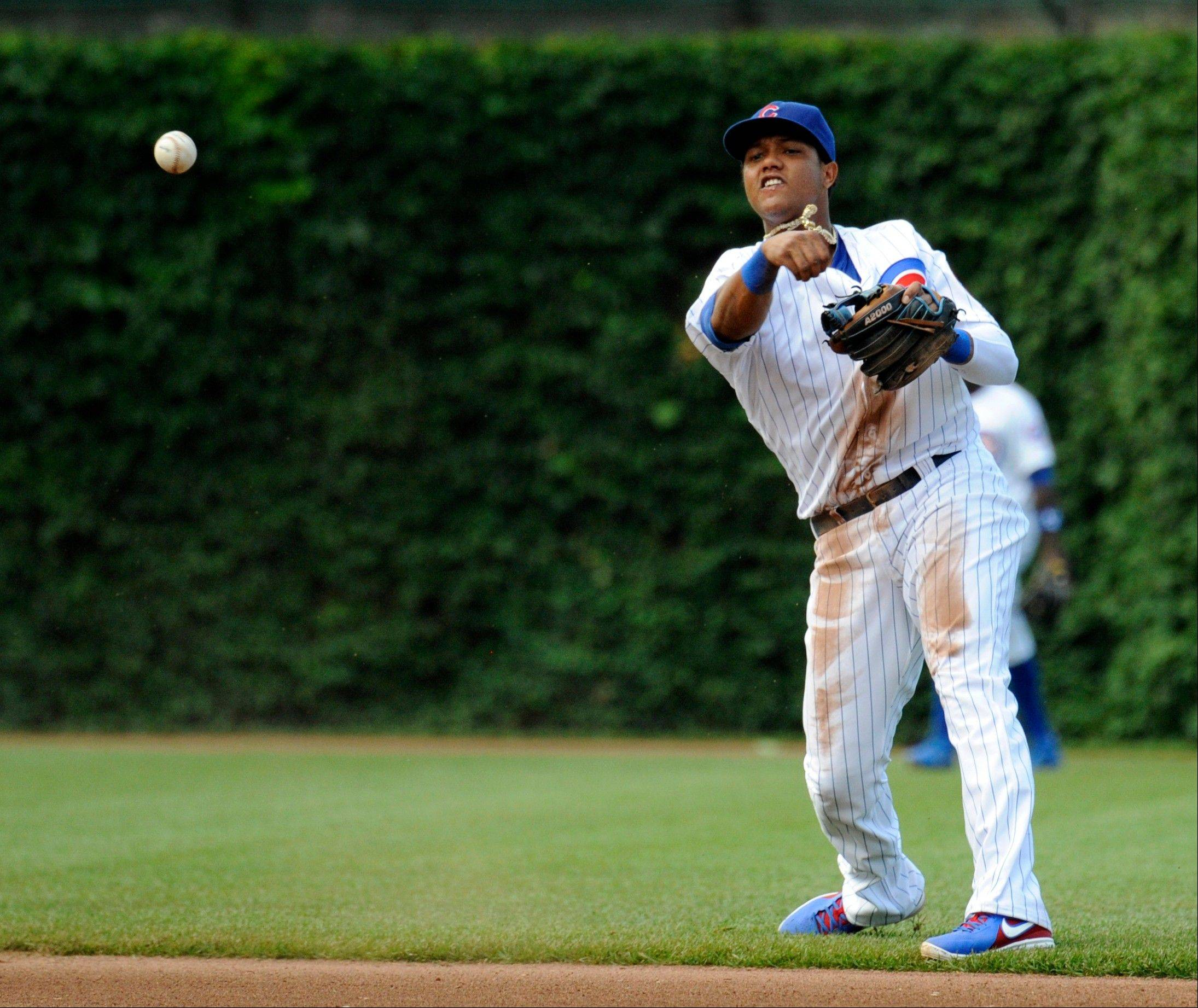 In addition to his struggles at the plate, Cubs shortstop Starlin Castro has a team-high 14 errors this season.