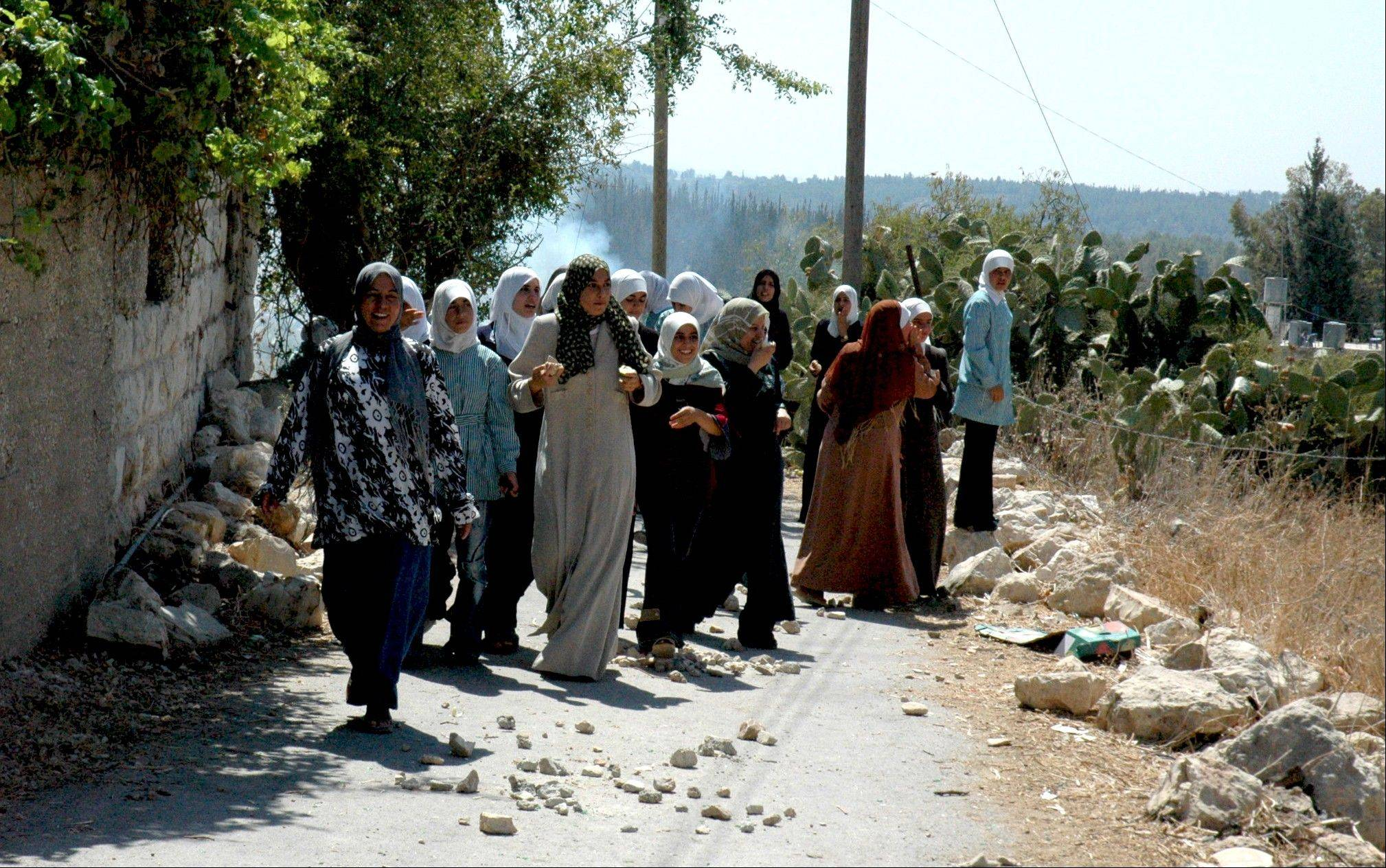 "The women lead a march to save their village of Budrus from destruction by Israel's Separation Barrier. ""Budrus"" shines a light on people who choose nonviolence to confront a threat."