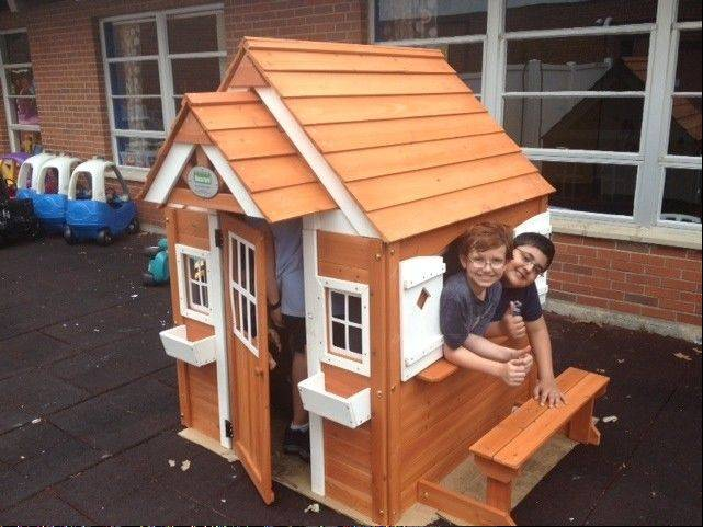 Participants in a Naperville Park District summer camp helped build this playhouse to donate to Almost Home Kids, offering transitional and respite care for sick children.