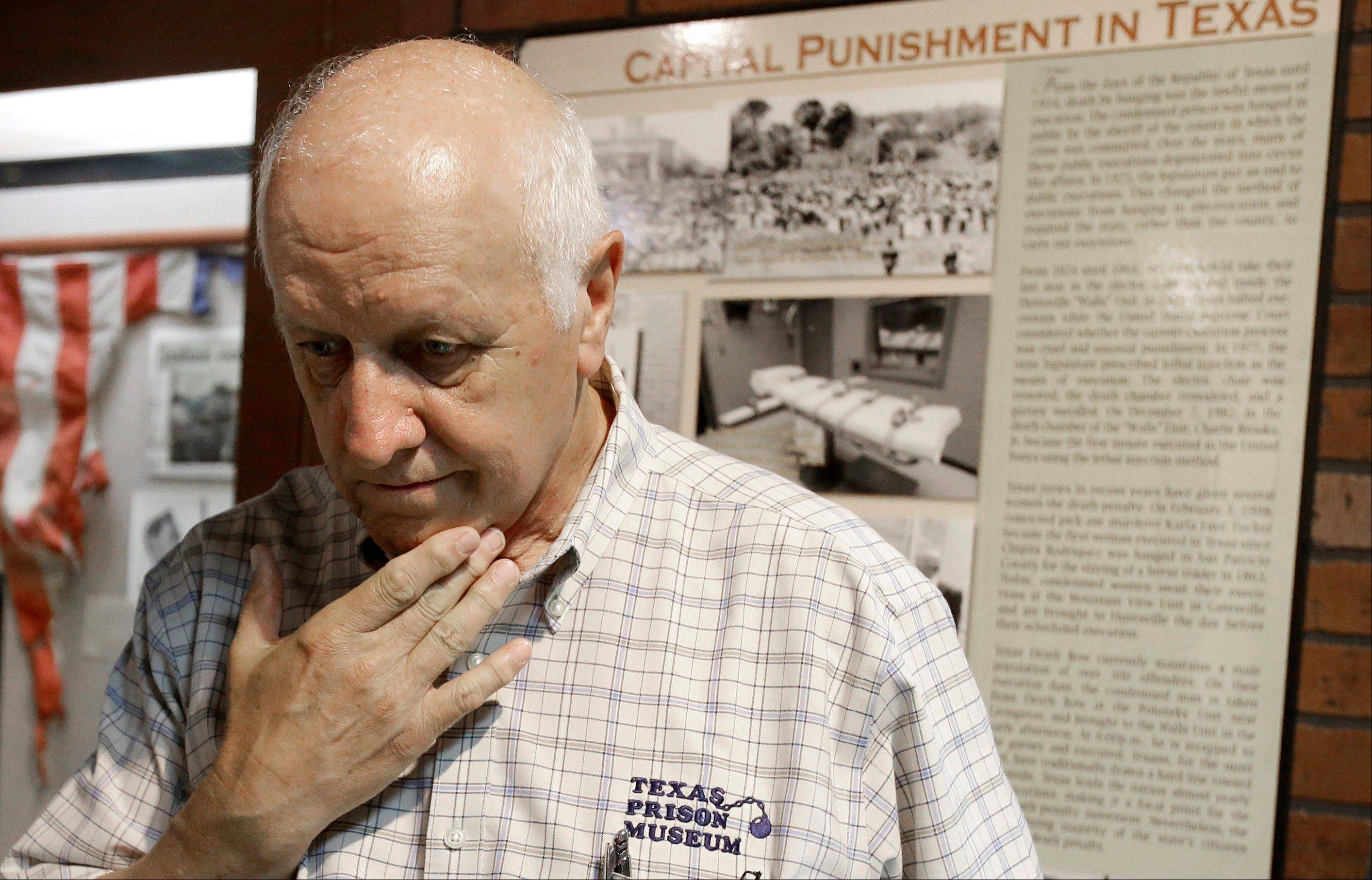 Texas Prison Museum director Jim Willett talks about some of the executions he witnessed as a warden at the Huntsville Unit at the Texas Prison Museum in Huntsville. Willett was a Texas Department of Corrections captain assigned to escort and remain with a mortuary van when Charlie Brooks, the first Texas prisoner executed since a Supreme Court ruling six years earlier allowed the death penalty to resume in the United States, was executed in the early morning hours of Dec. 7, 1982.