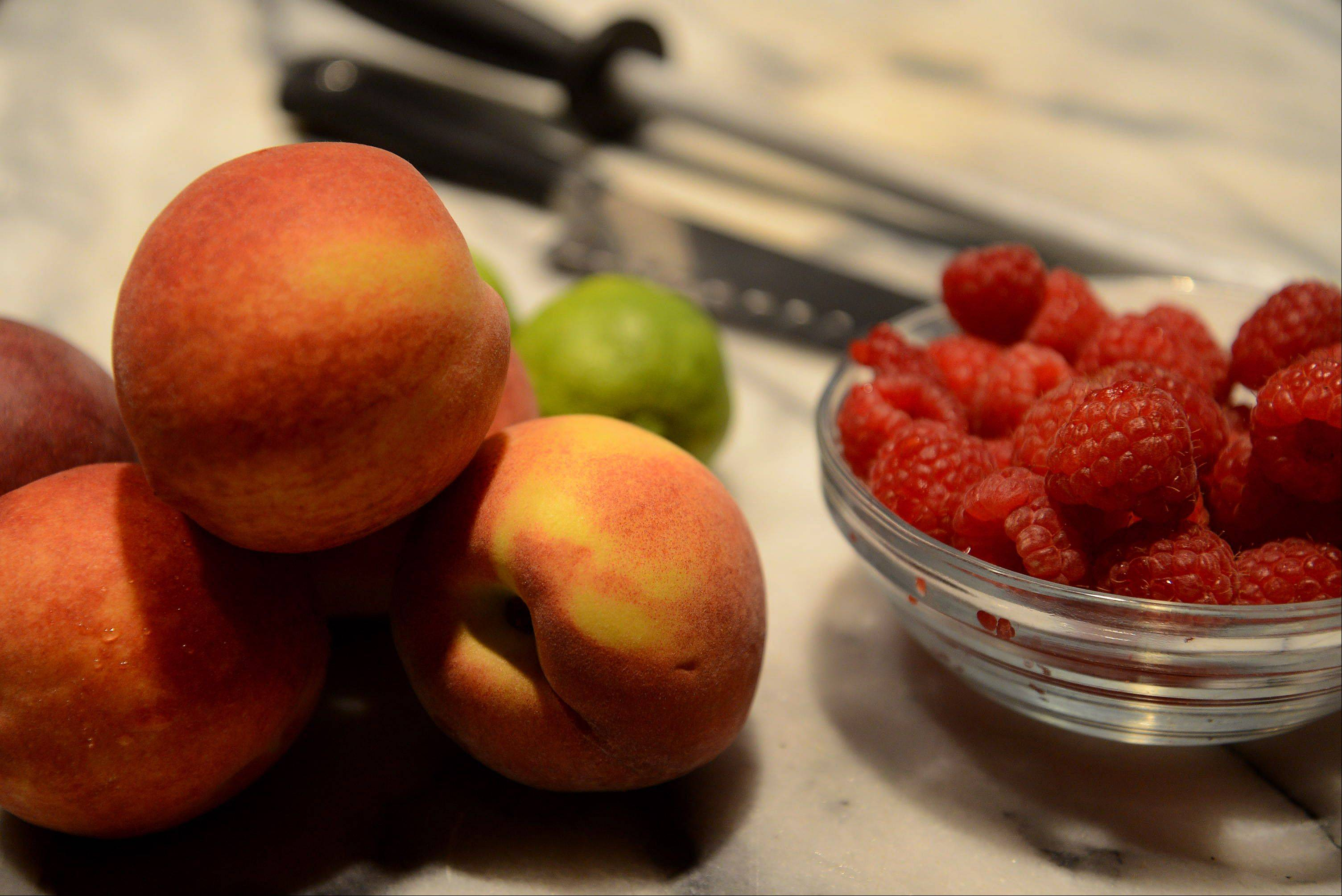 With little effort fresh raspberries and peaches turn into an iconic dessert, Peach Melba.