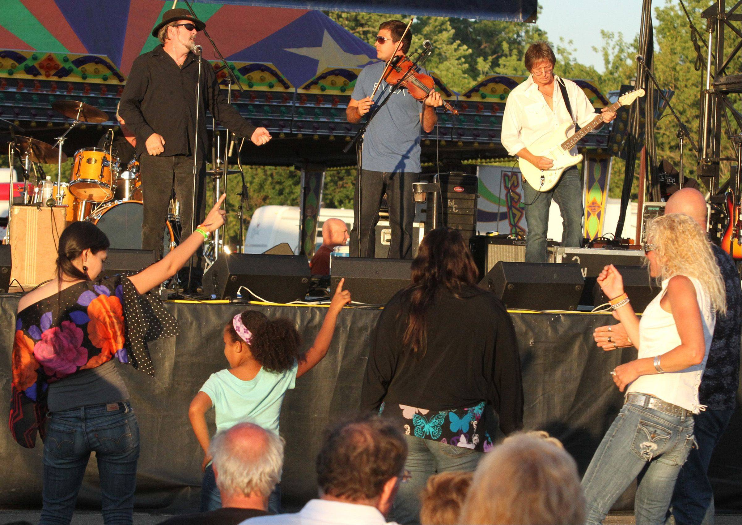 Kevin Purcell & The Nightburners at played at last year's Wauconda Fest.