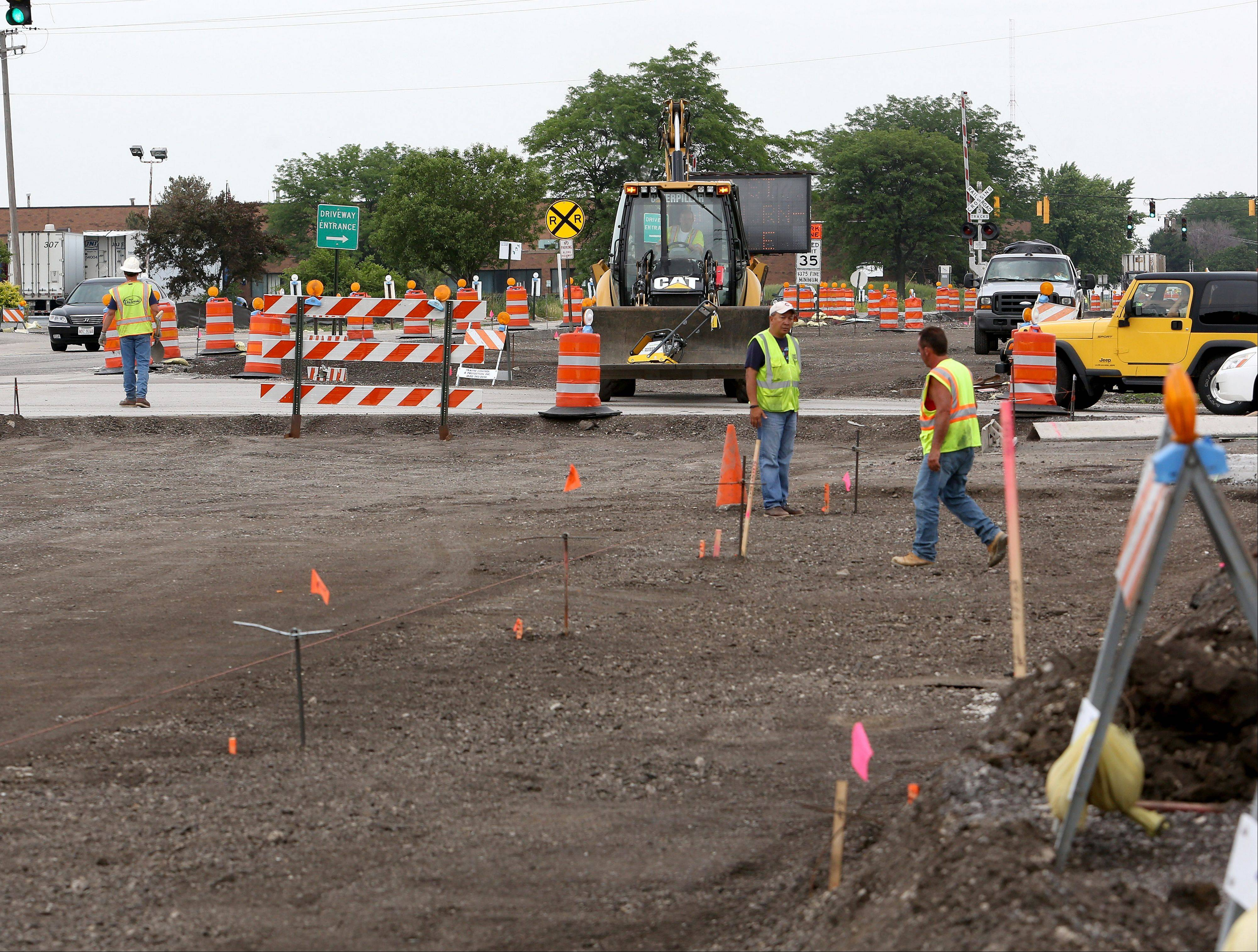 Village officials say area businesses have suffered for nearly two years as work to widen Route 53 near Addison and Itasca has dragged on.
