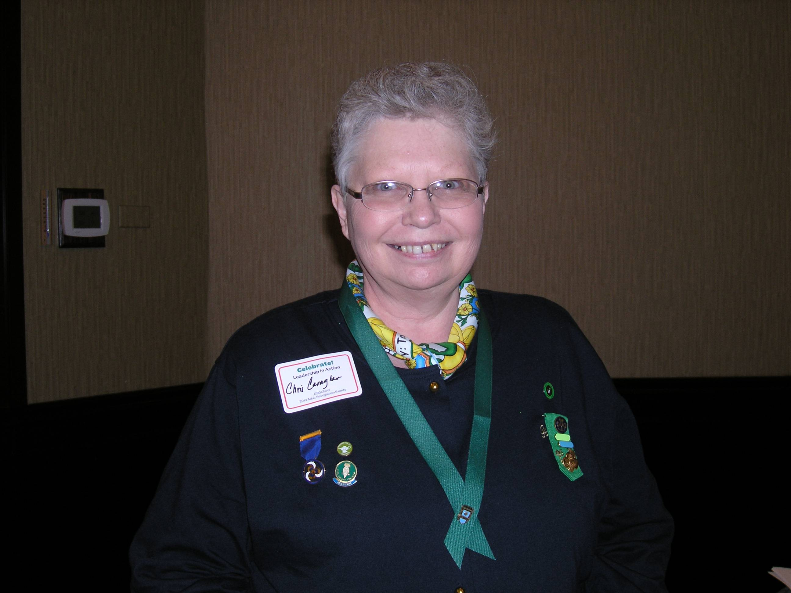 Volunteer Christine Caragher of Downers Grove