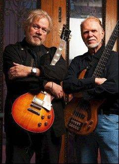 Randy Bachman, left, and Fred Turner rose to fame as Bachman Turner Overdrive. They will perform together Friday at the Arcada Theatre in St. Charles.