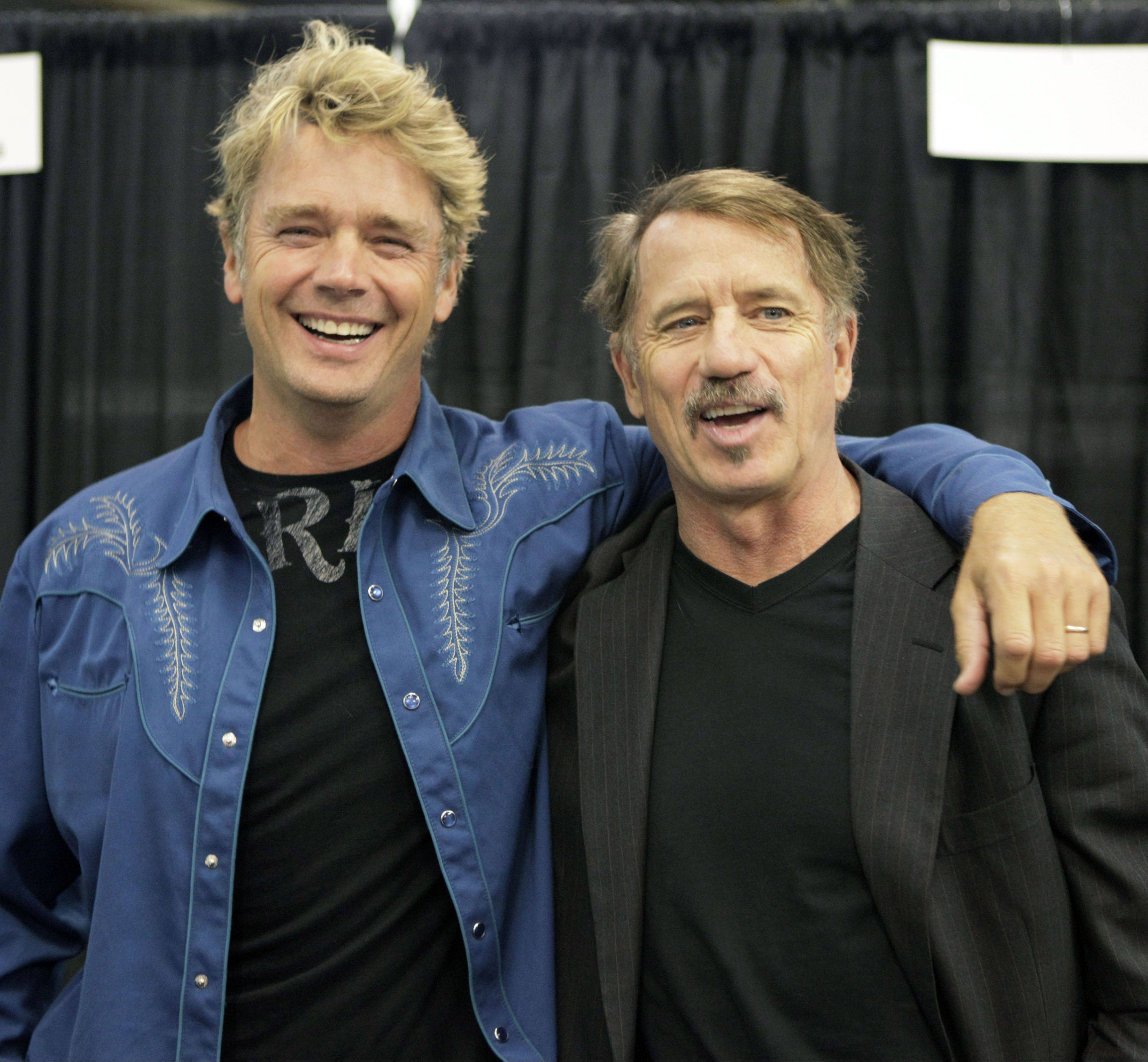 Actors John Schneider, left, and Tom Wopat from television's Dukes of Hazard.