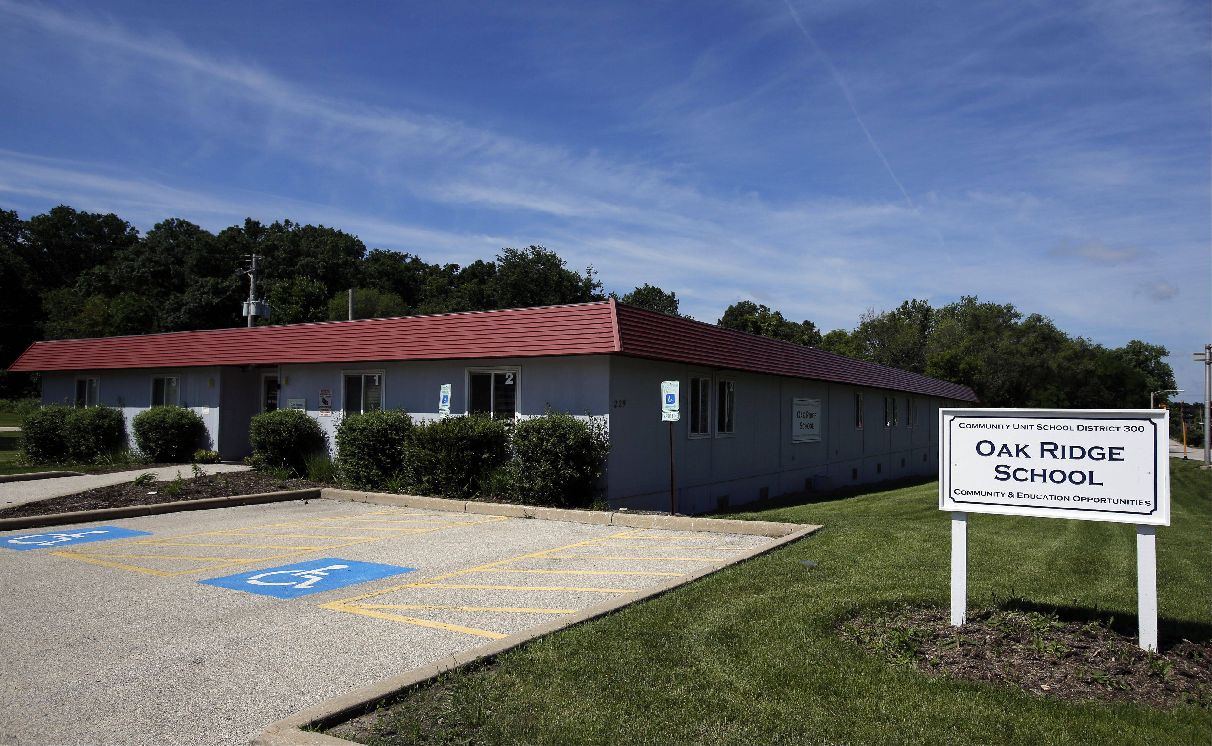 Community Unit District 300 is searching for a more permanent home for its alternative school. School board members approved a resolution to put the current Oak Ridge property on the market in July.