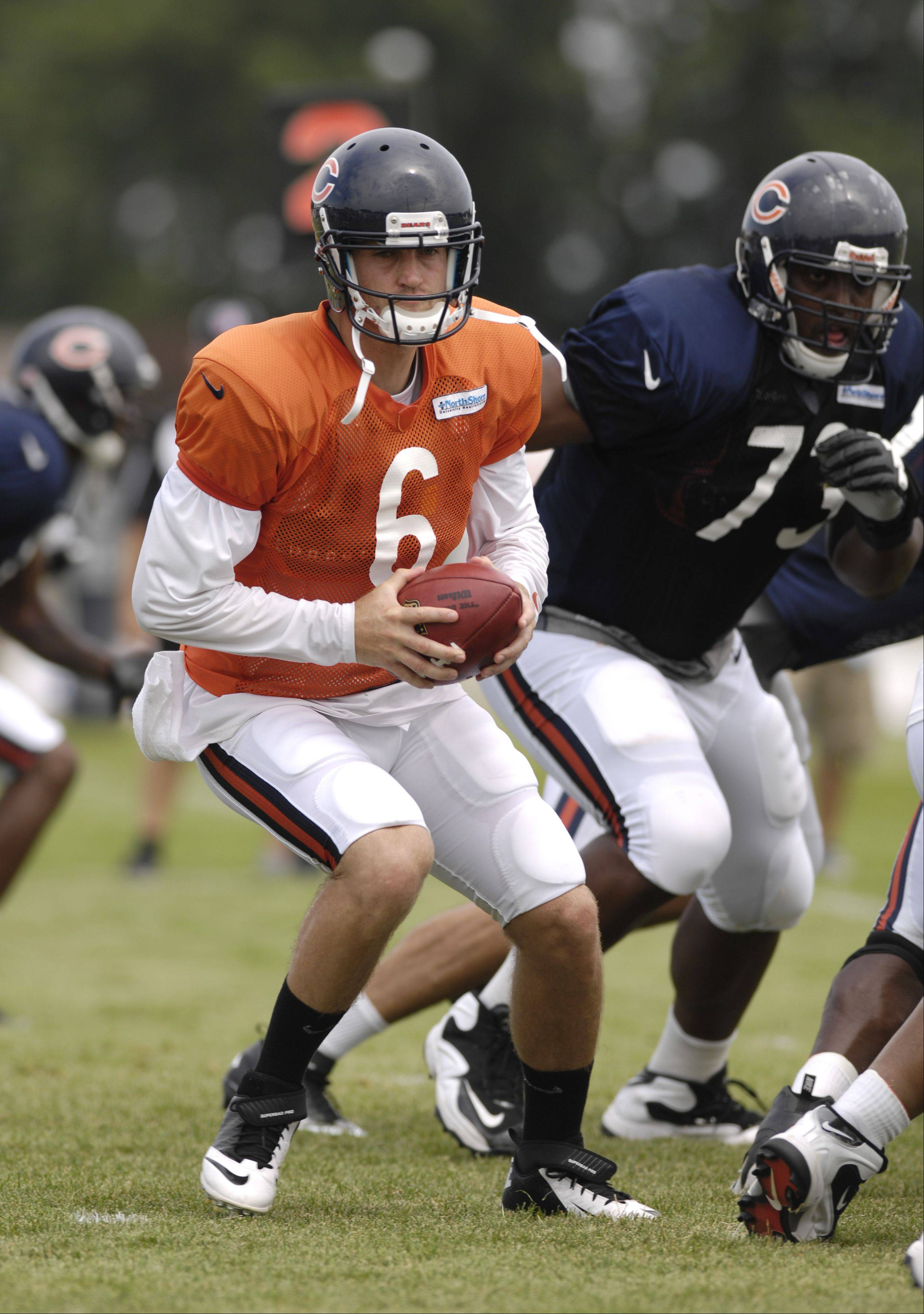 Bears quarterback Jay Cutler and his teammates will return to training camp at Olivet Nazarene University in Bourbannais on July 26.