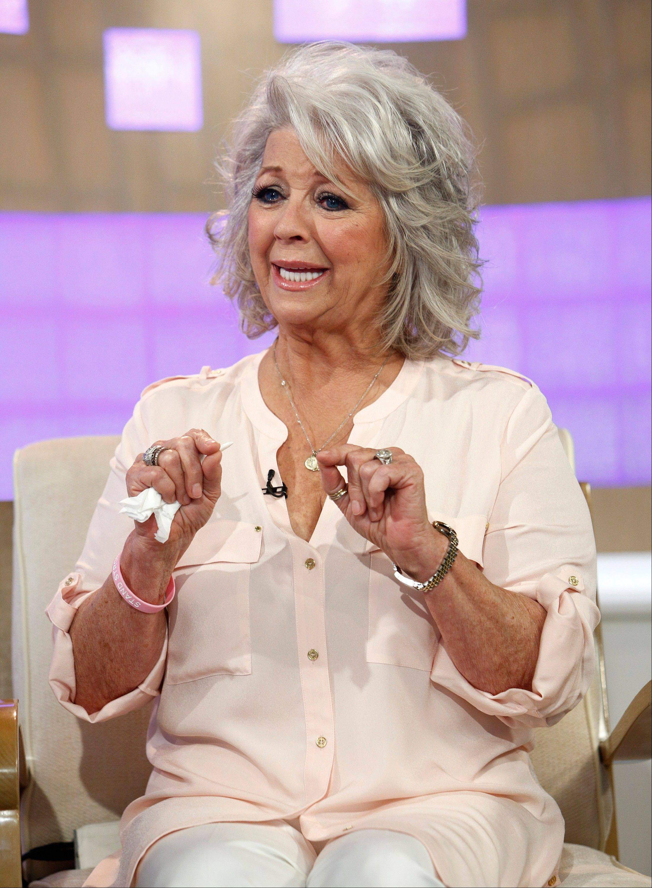 "Celebrity chef Paula Deen on NBC News' ""Today"" show, Wednesday, June 26, 2013 in New York. Paula Deen has been dropped by the Food Network and Wal-Mart, but book-buyers are standing by her."