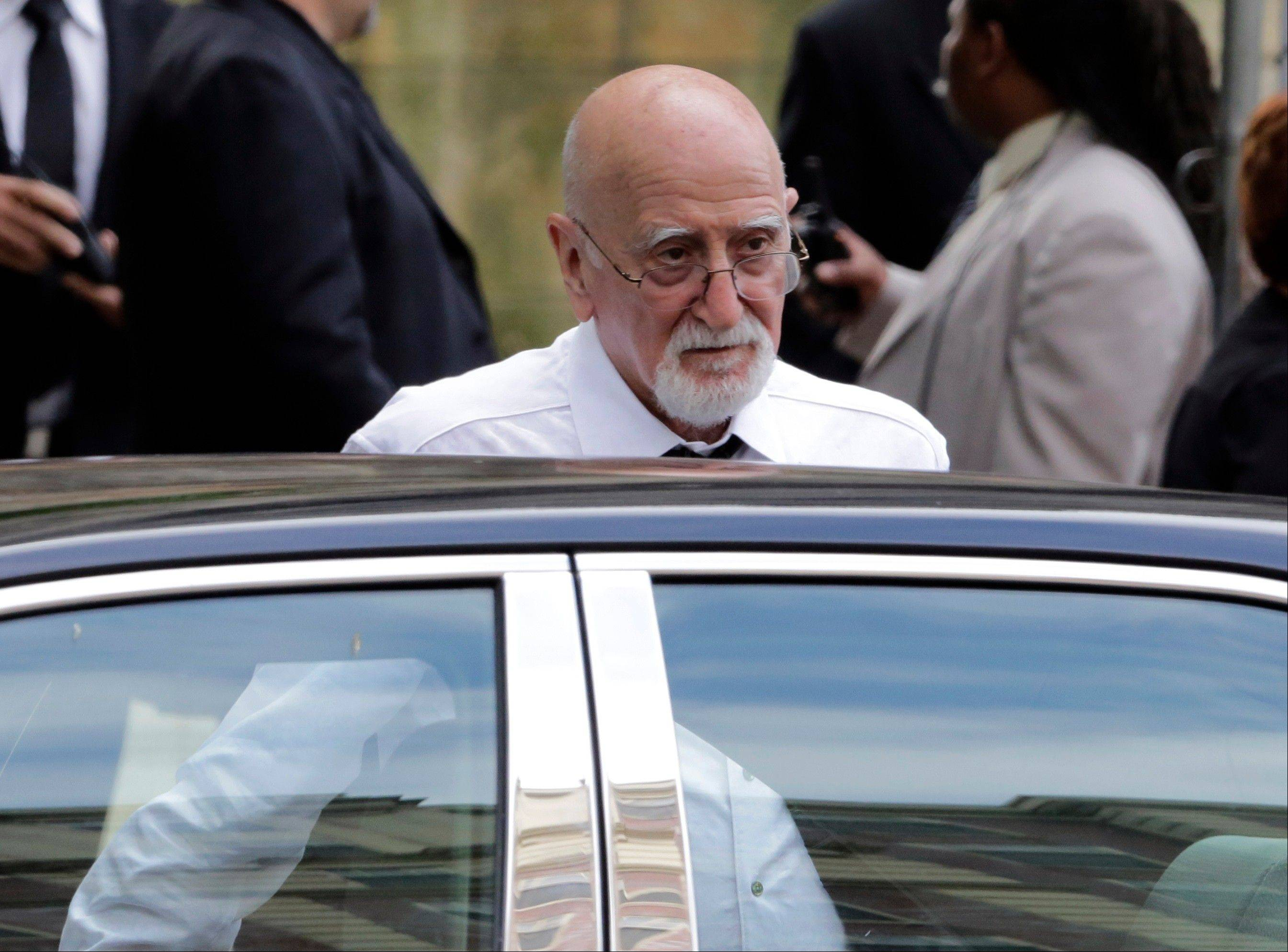 "Actor Dominic Chianese arrives for the funeral service of James Gandolfini, star of ""The Sopranos."""