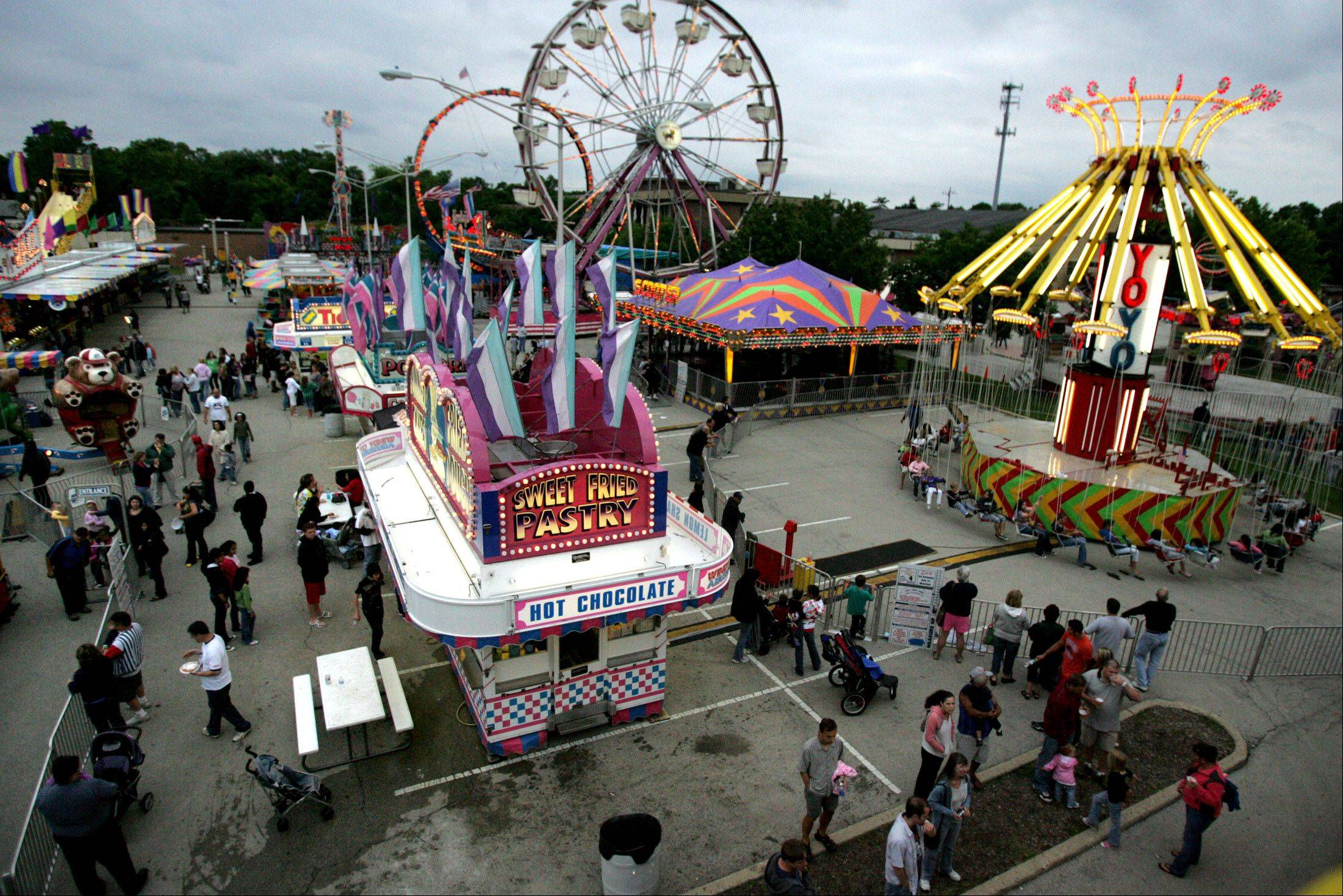 Palatine Jaycees Hometown Fest at Community Park opens today, July 3.