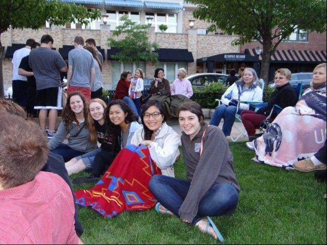 St. Viator students, faculty, parents and alumni were among the folks who came out to hear the St. Viator Jazz Band open the outdoor summer concert series in Arlington Heights.