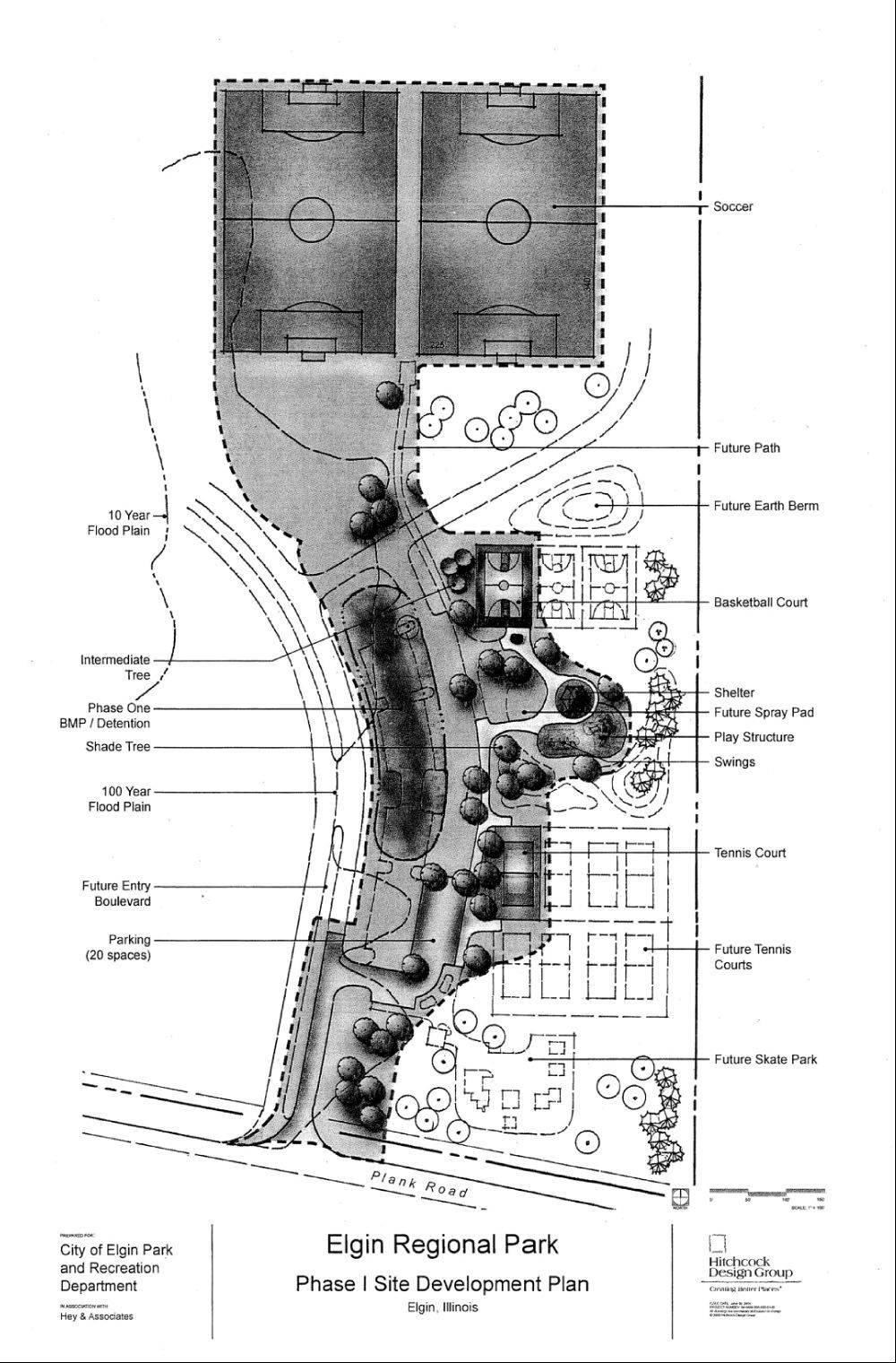 COURTESY OF CITY OF ELGIN Elgin awarded a $899,000 contract to Earthwerks Land Improvement and Development Corp., of Batavia, for the first phase of the construction of Jack E. Cook Regional Park on Plank Road, north of Muirhead Road.