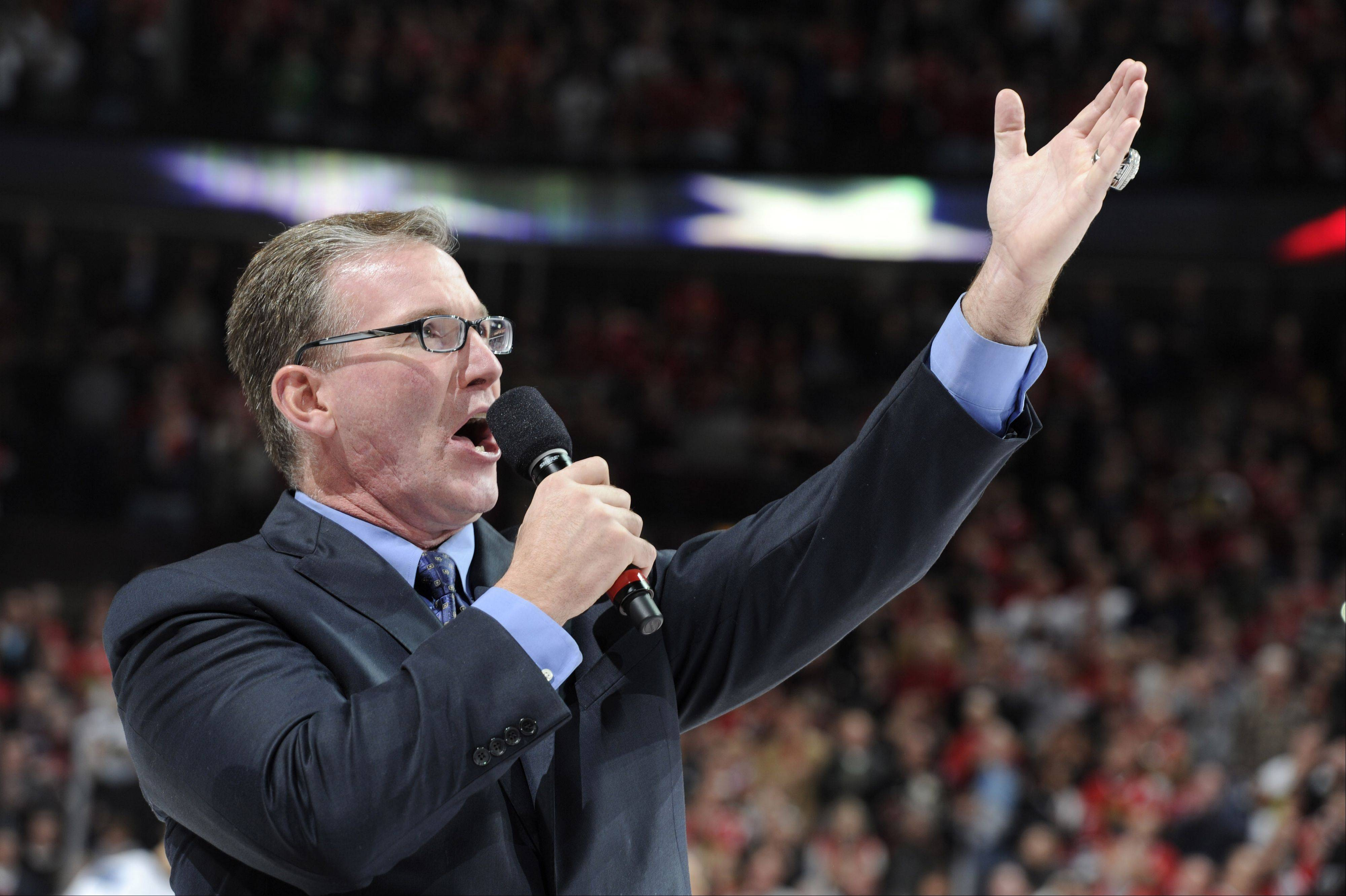 Blackhawks anthem singer Jim Cornelison.