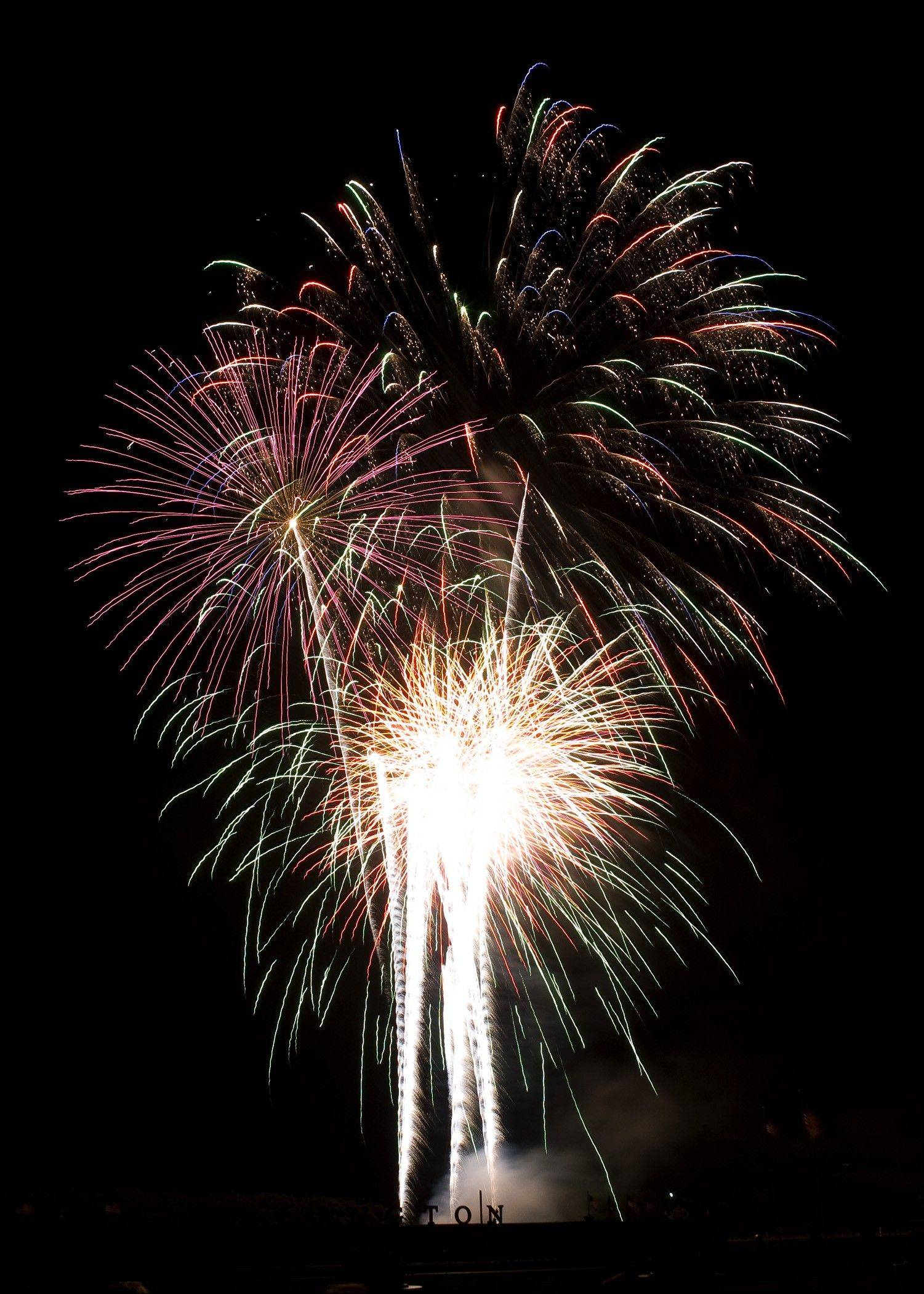 Fireworks will light up the sky Thursday, July 4, in Arlington Heights, as the Arlington International Racecourse features 30 minutes of fireworks set to music.