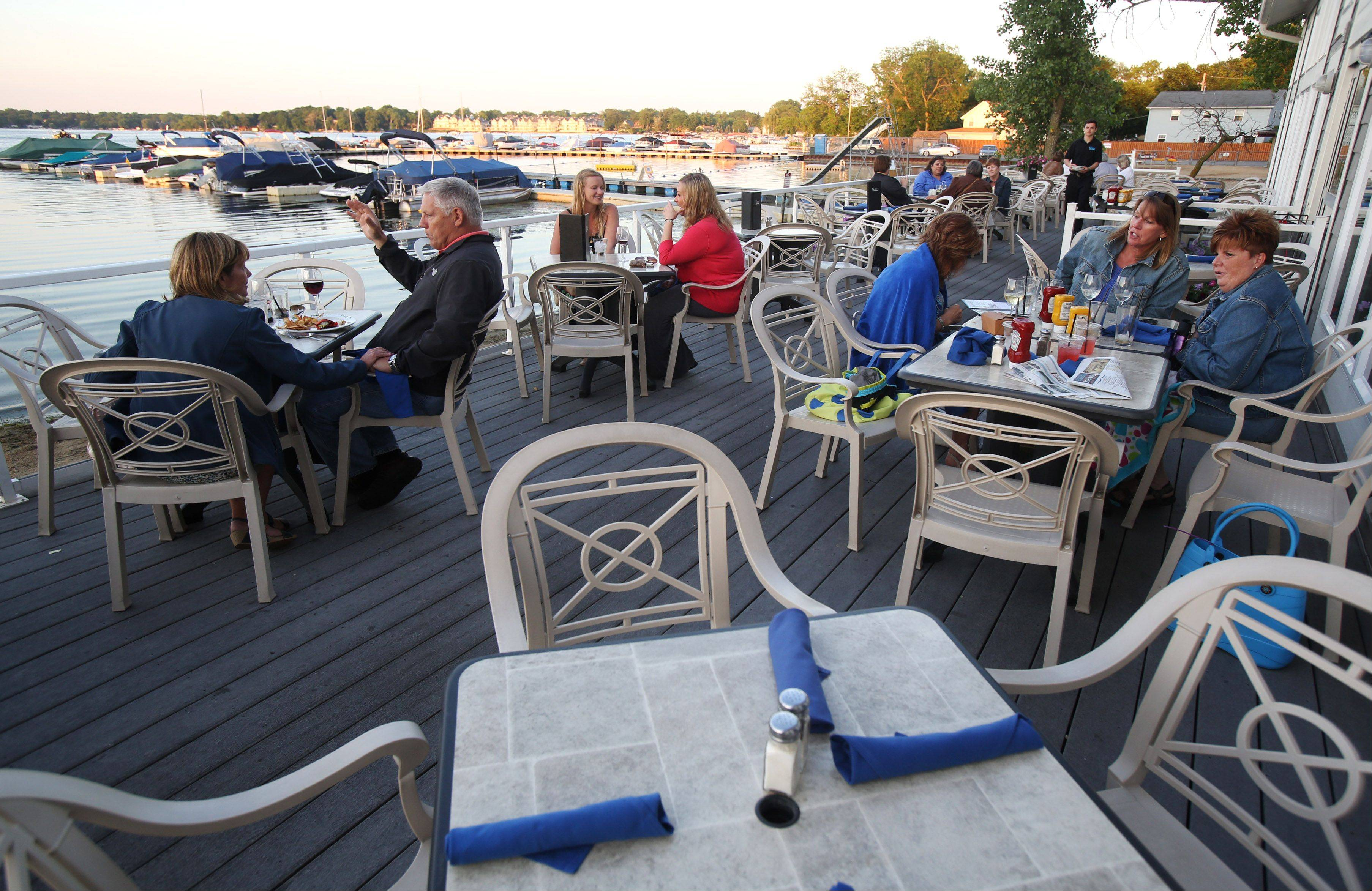 The upper deck at Lindy's Landing in Wauconda provides a nice view of the water.