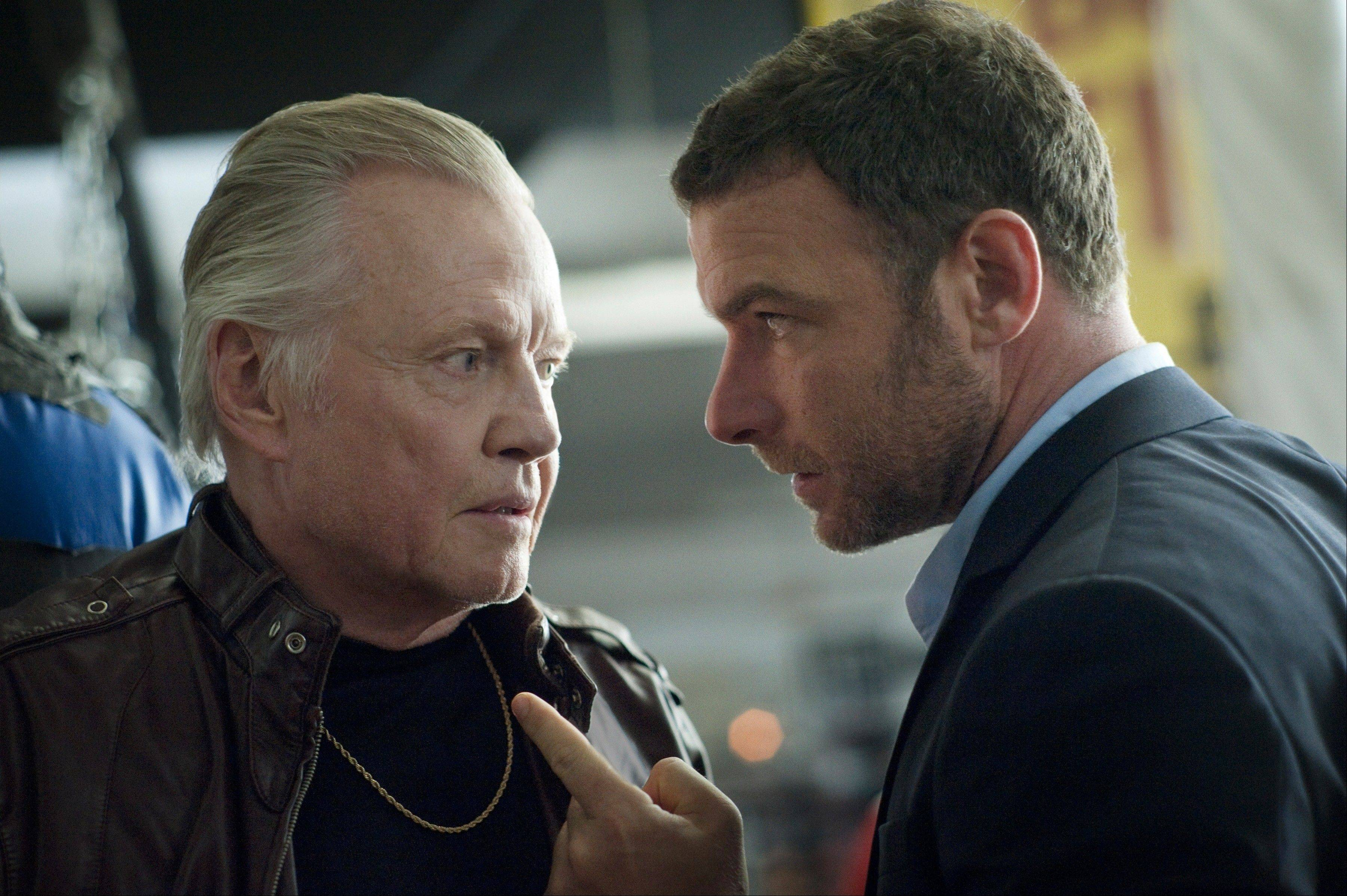 "A Hollywood fixer (Liev Schreiber), right, must confront his own family's demons when his gangster father (Jon Voight) is unexpectedly released from prison in ""Ray Donovan,"" premiering Sunday, June 30, on Showtime."