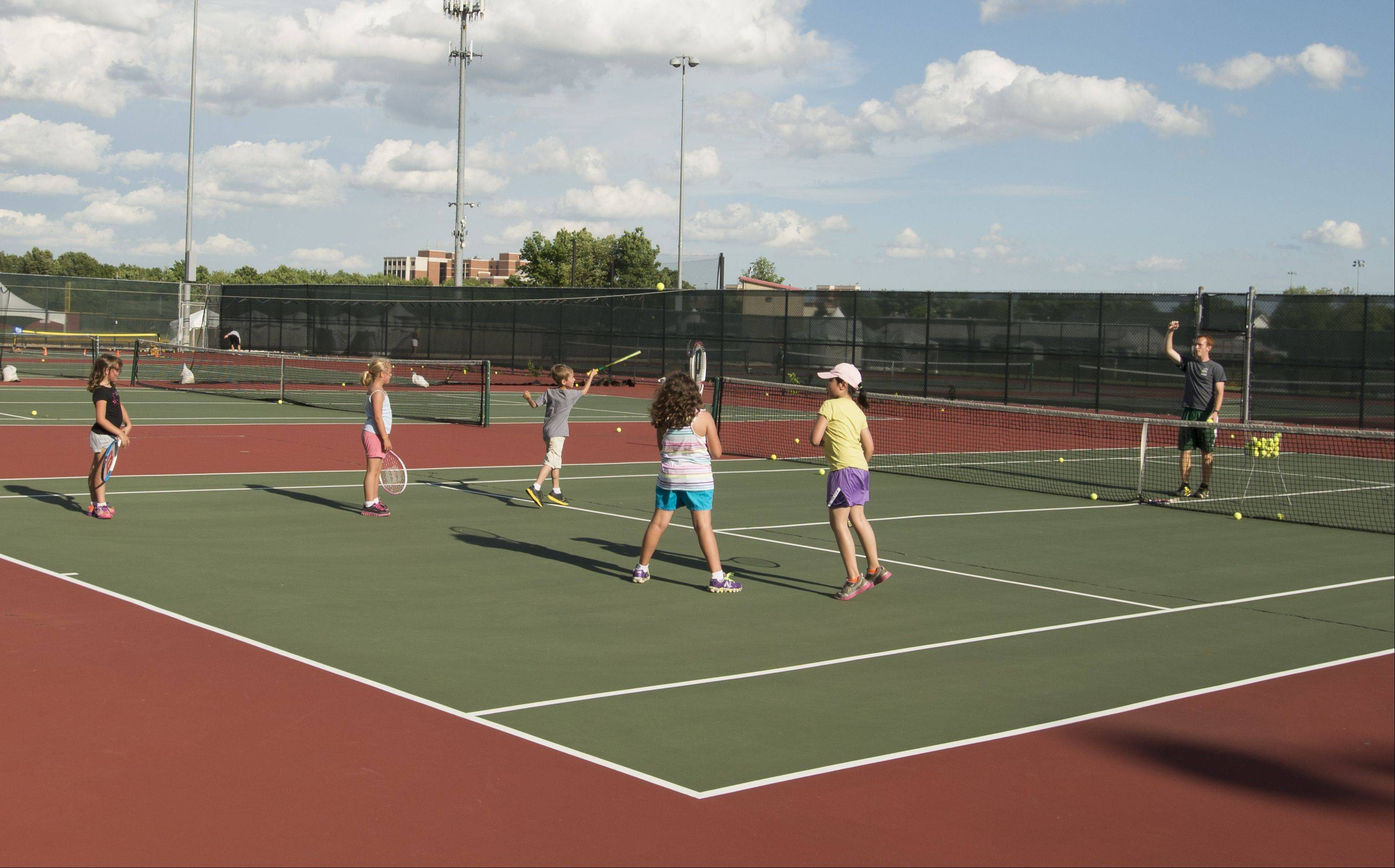 Improvements to 12 tennis courts will be part of the renovations at Knoch Park North.