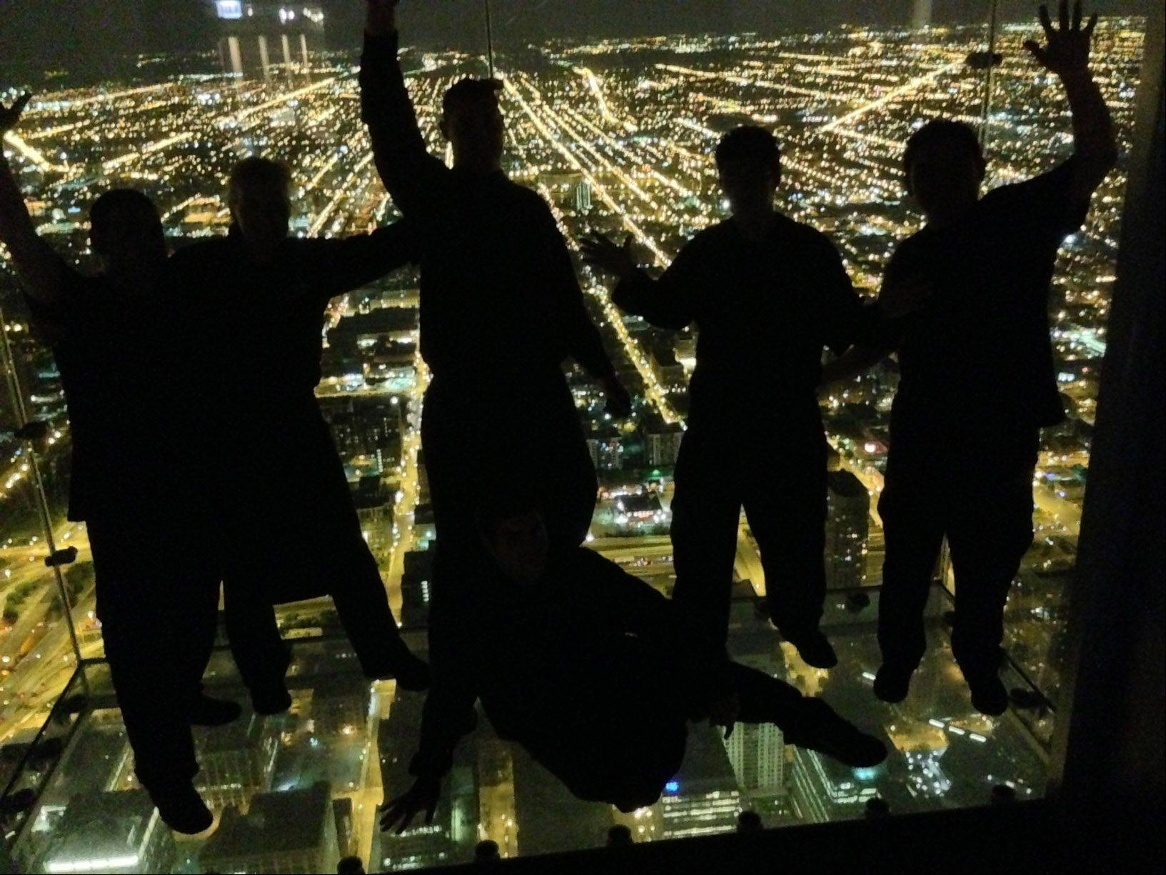 "Out on ""The Ledge"" in the Willis Tower. What a view!"