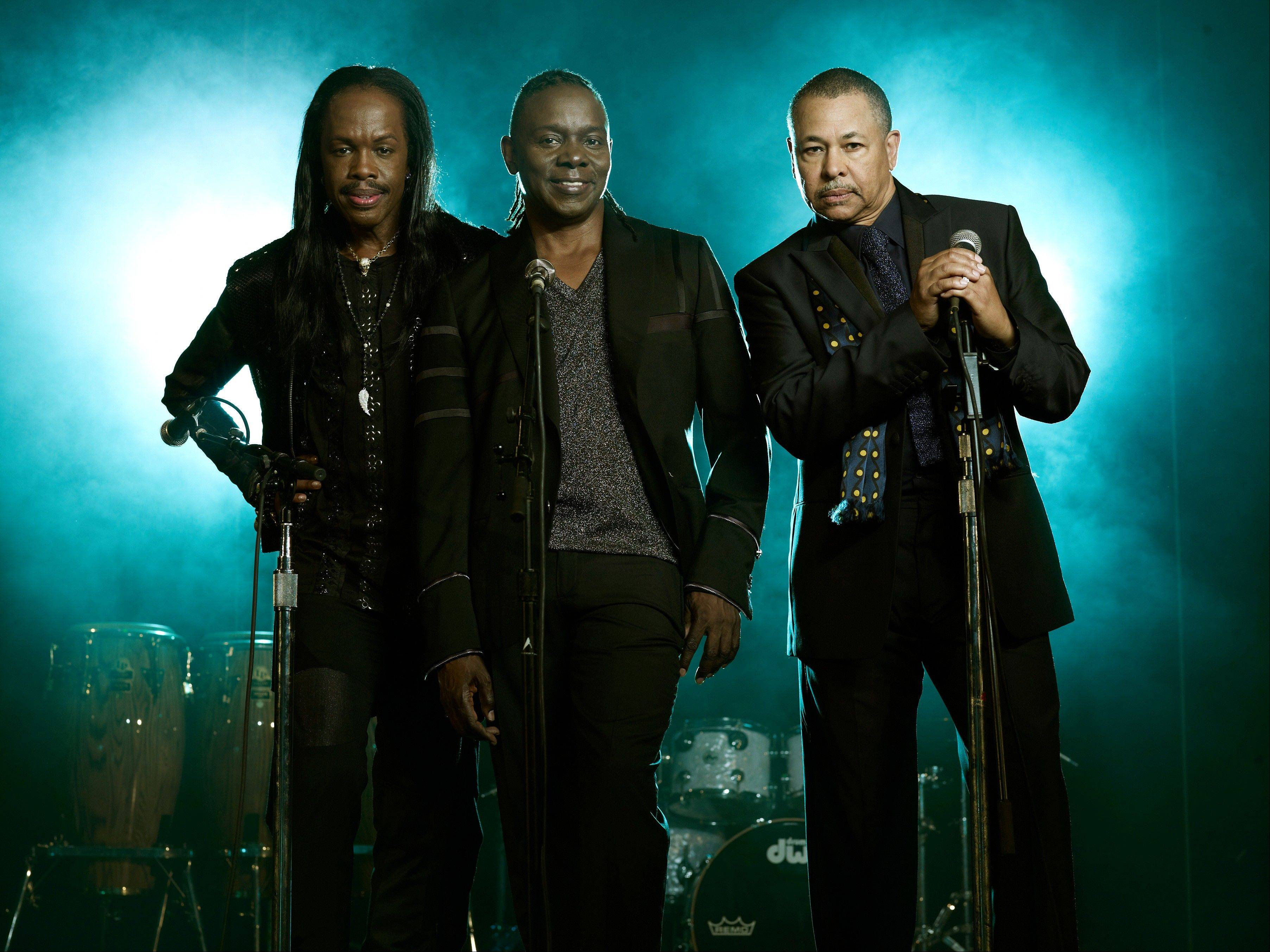 "Earth, Wind & Fire — Verdine White, left, Philip Bailey and Ralph Johnson — will release their first album in eight years called ""Now, Then & Forever"" on Sept. 10."