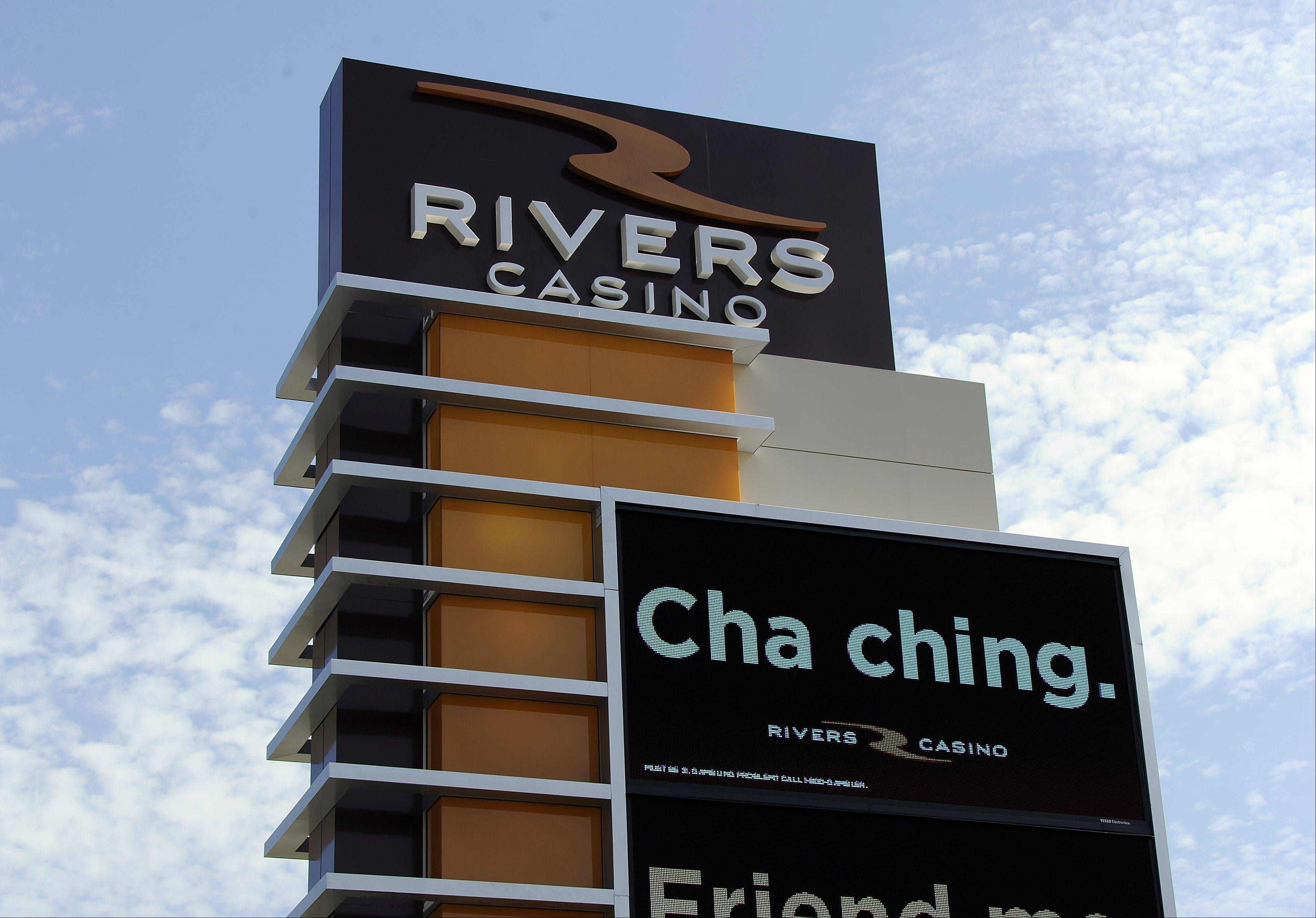 The parent company of Rivers Casino in Des Plaines is seeking an injunction on a new Cook County tax on slot machines and other gambling devices.