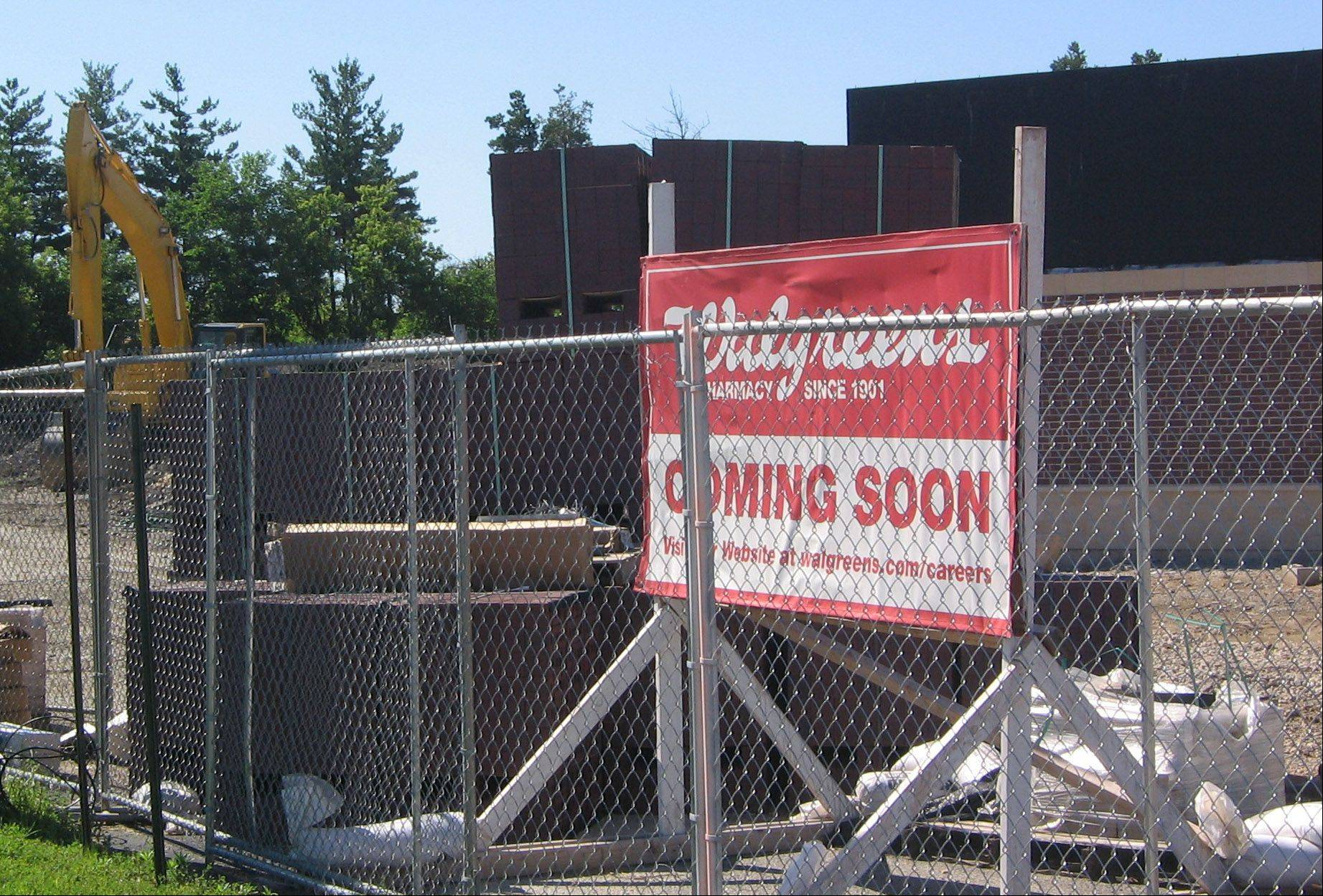Construction of a Walgreens is a sign of growth in Lakemoor, officials say.