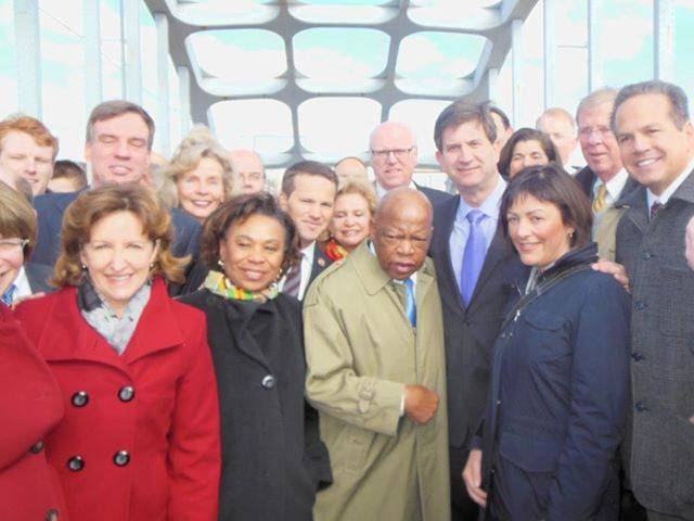 Brad visiting the historic Edmund Pettus Bridge with Rep. John Lewis earlier this month.  (From his Facebook page in March)