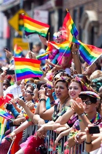 Pride Parade draws gay marriage supporters