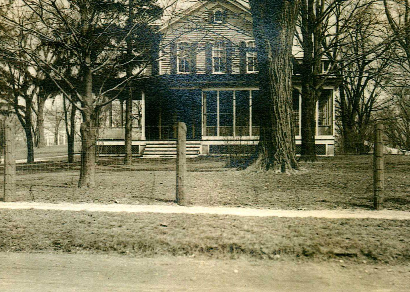 Craig and Donna Ostrye received several old photos of their home from a man in Oregan whose family members once lived there. This photo was taken between 1912 and 1915.
