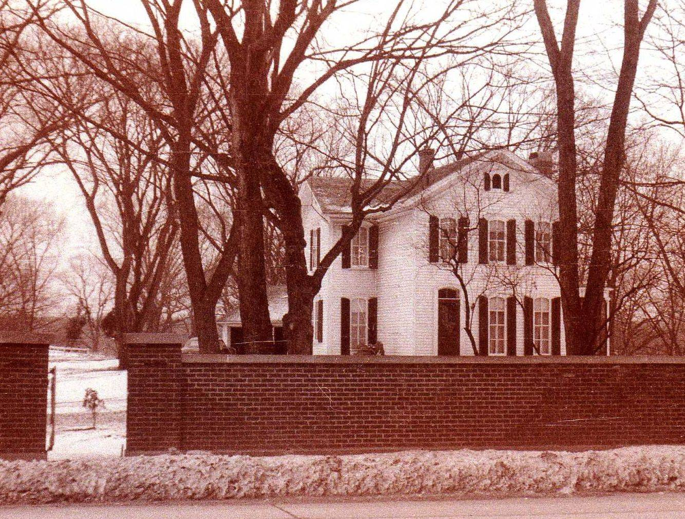 Craig and Donna Ostrye received several old photos of their home from a man in Oregan whose family members once lived there. This photos was taken in 1952.