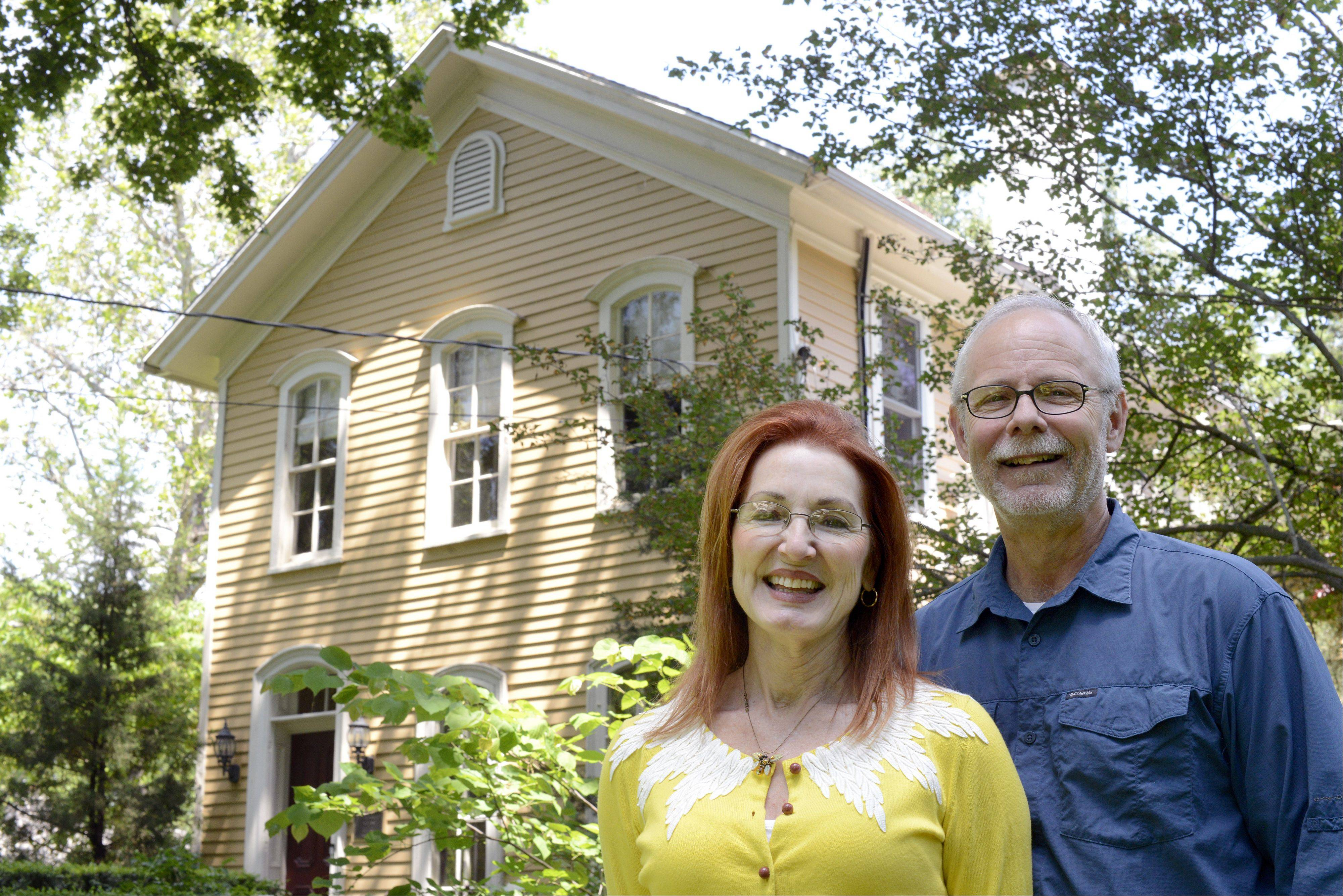 Donna and Craig Ostrye are the current owners of the historic Curtis house at 1301 Batavia Ave. in Geneva. They brought back the structure to its former glory after many years of work. The home is now on the market.