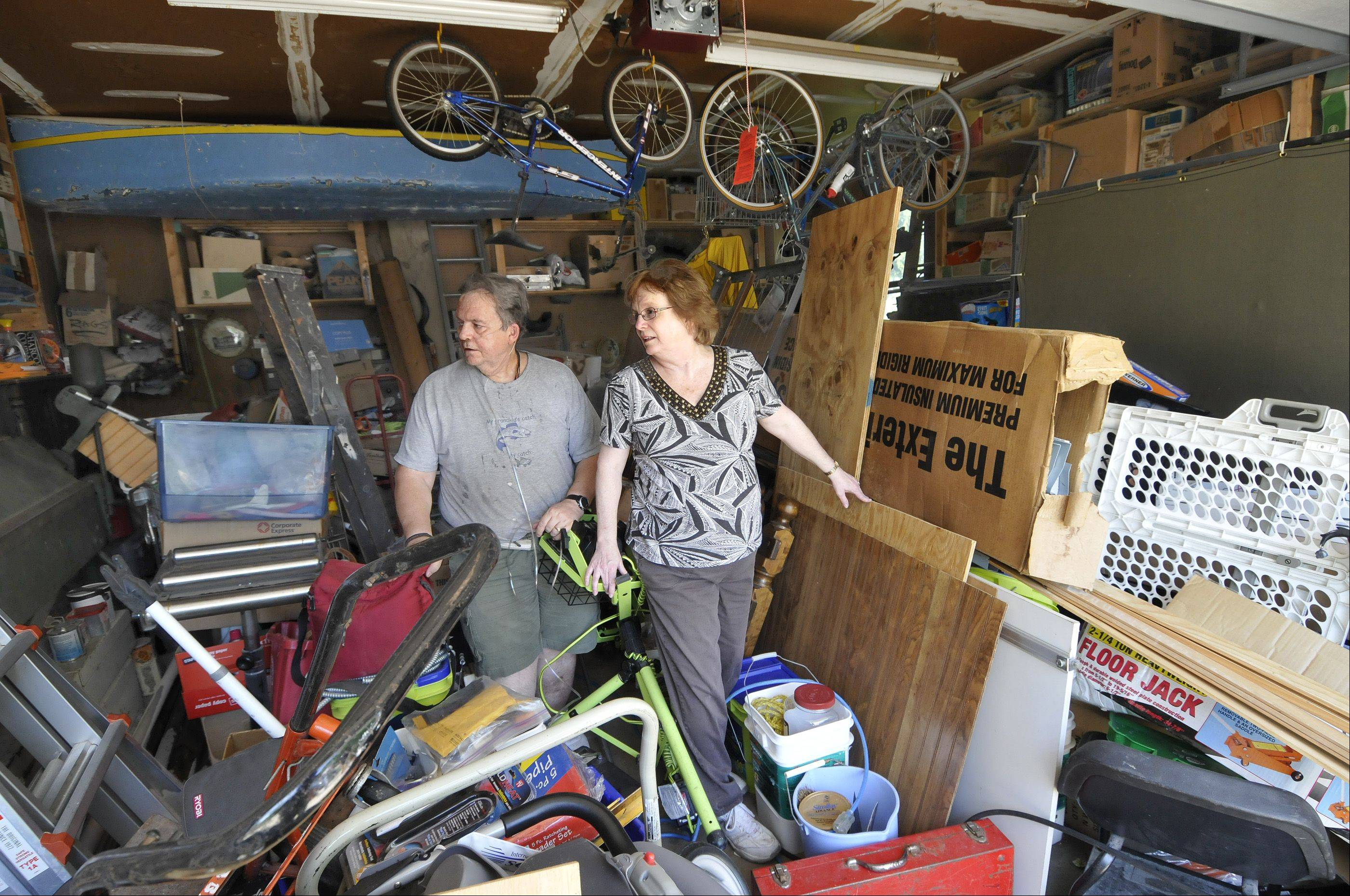 Dianne DeBellis and her husband Rob won the Daily Herald's garage makeover contest. Dianne says there are 39 years hears of stuff in the garage. Junk Remedy will clean it out and an organizer, Jim Melchert from Garage Store, will finish the job.