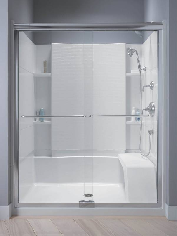 option involves replacing the existing tub with a large walk in shower