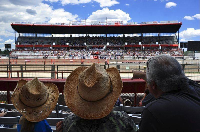 The rodeo events during Cheyenne Frontier Days are held in the world's largest outdoor rodeo arena.