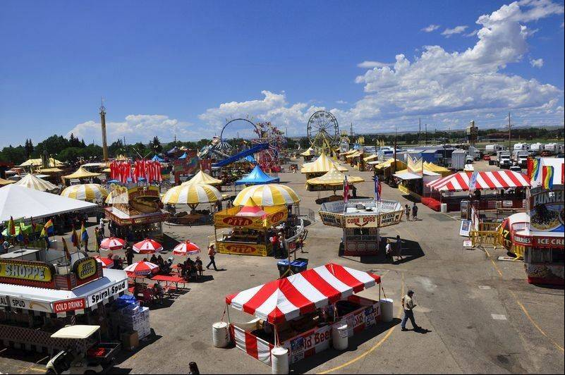 Everything from festival foods to a steak dinner can be purchased on the Midway in Frontier Park.