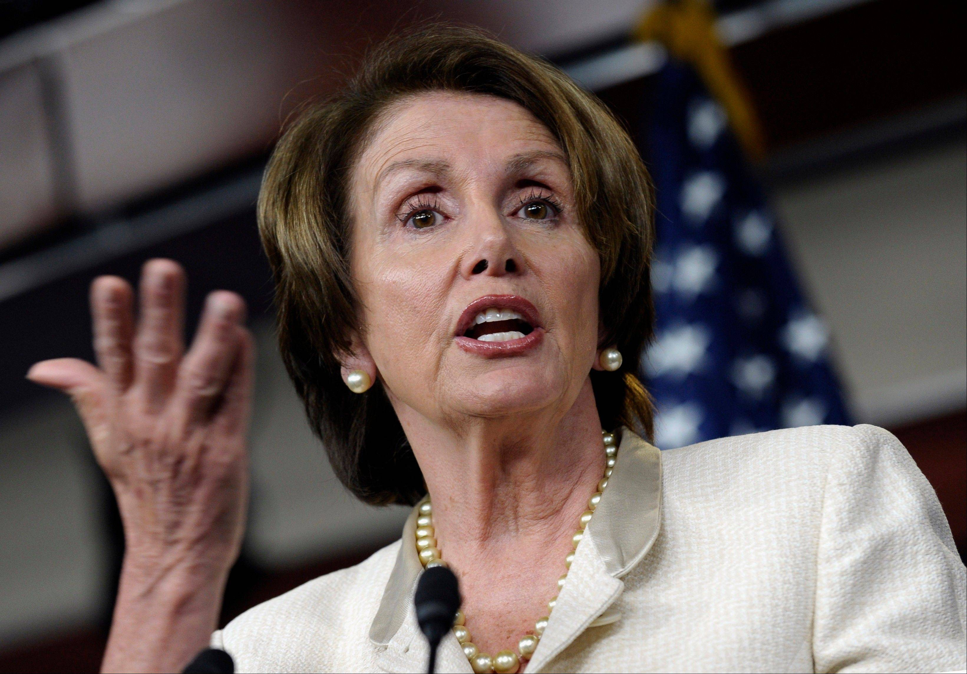 House Minority Leader Nancy Pelosi of California said House Republicans' objections to immigration reform containing a pathway to citizenship for those immigrants already here could block GOP hopes of ever winning the White House.