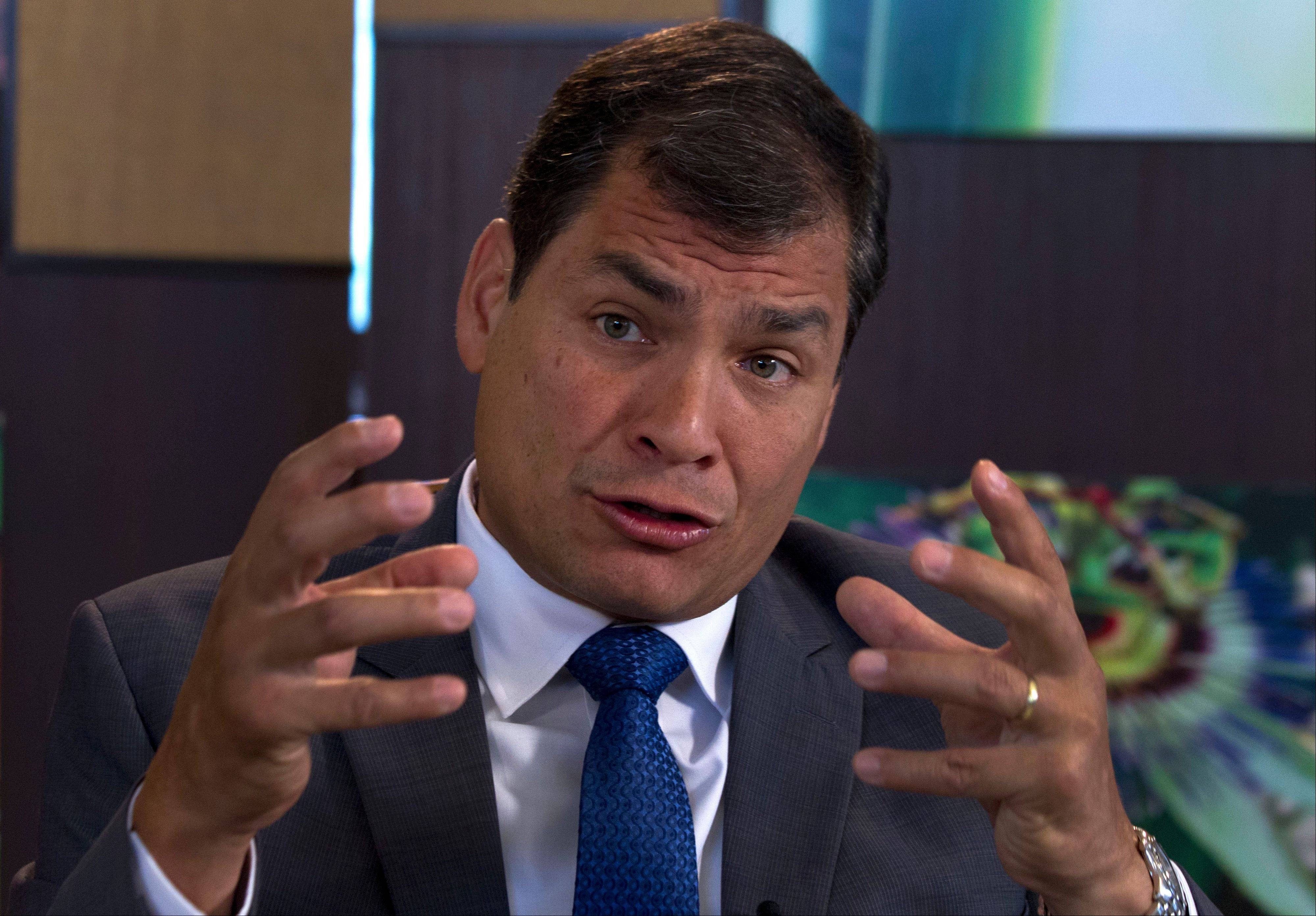 Ecuadorean President Rafael Correa says he had no idea National Security Agency leaker Edward Snowden's intended destination was Ecuador when he fled Hong Kong for Russia last week.