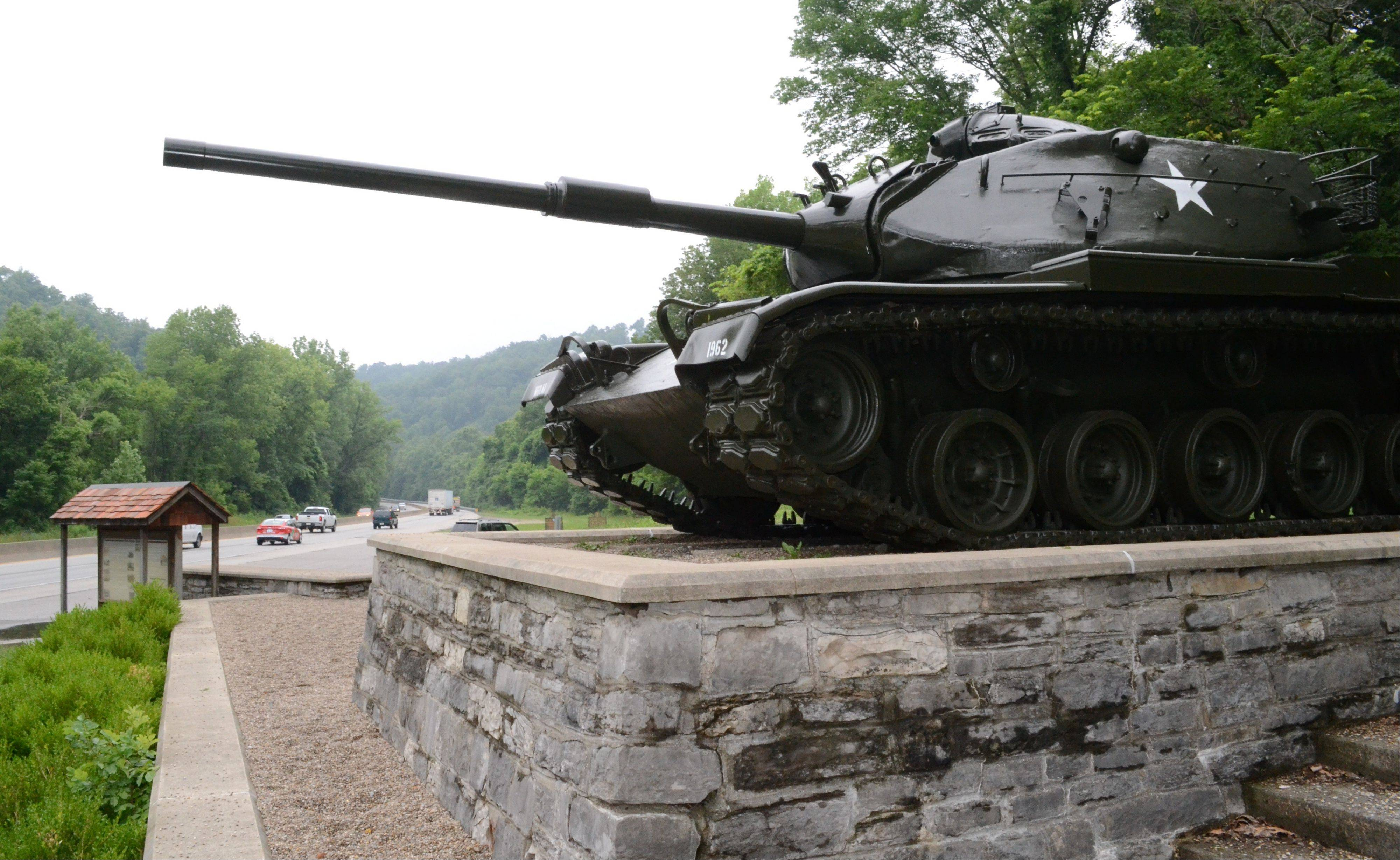 An old Army tank now stands as a monument near the entrance to Fort Knox. The Pentagon recently announced that the historic Army post in Kentucky would lose its only combat brigade.