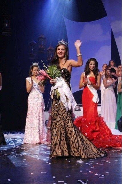 Brittany Smith of Elmhurst was crowned Miss Illinois on Saturday in Marion, Ill.