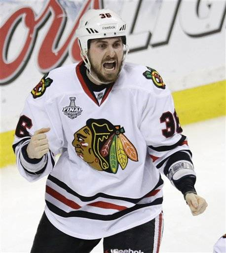 Dave Bolland's Game 6 game winner is the last goal he'll score for the Chicago Blackhawks. The Stanley Cup champions traded Bolland to the Toronto Maple Leafs for three draft picks Sunday at the NHL draft. The Blackhawks received the 51st and 117th picks in this year's draft, and a fourth-rounder next season.