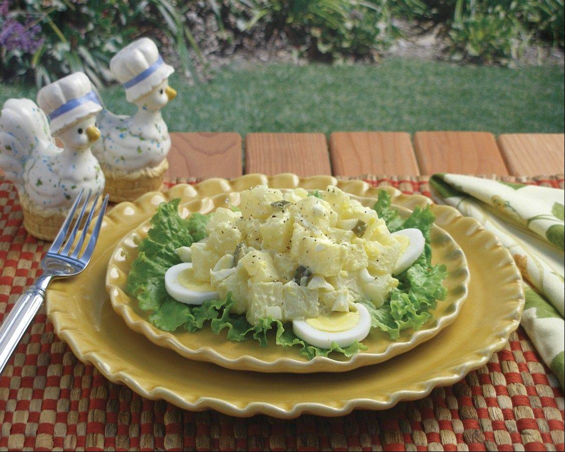 Sticklers for tradition will appreciate this mayo-based potato salad at your Fourth of July gathering.