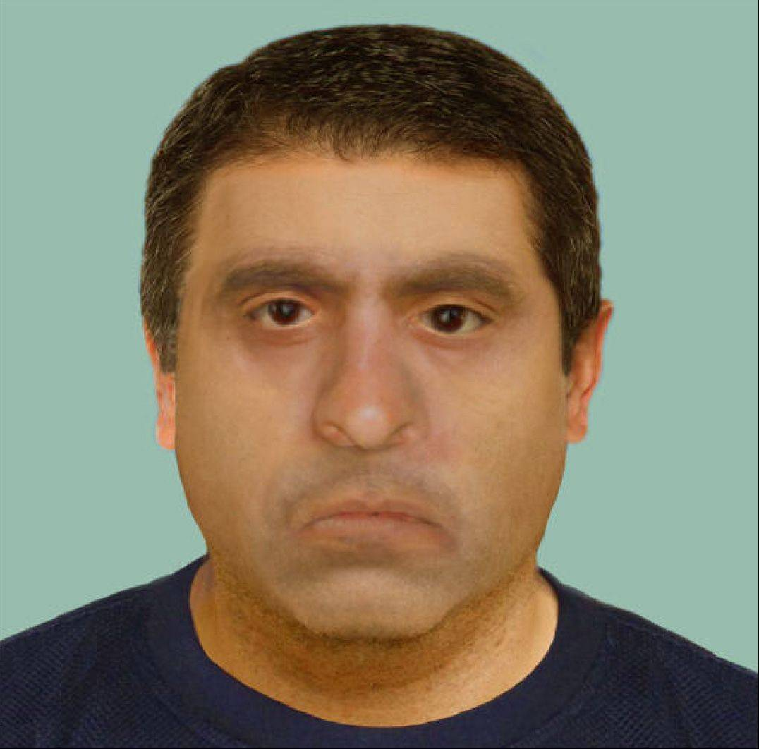 The DuPage County sheriff's office is asking for help identifying a human skull found more than three years ago near Wheaton. Authorities say the man, believed to be Hispanic or Native American, may have looked like this.