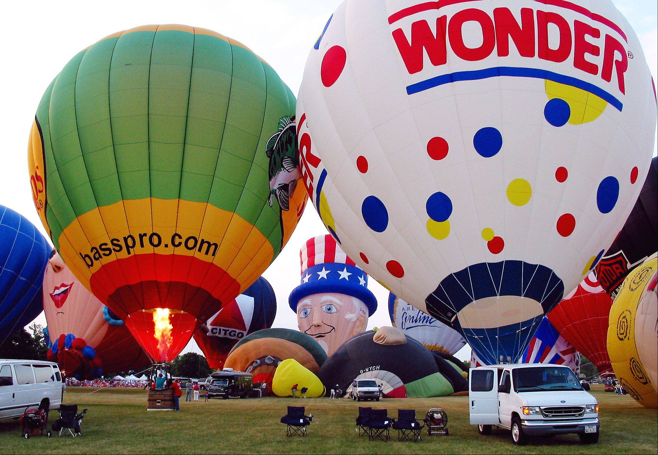 Balloon launches will be at 6 a.m. and 6 p.m. Wednesday to Saturday, weather permitting, during Lisle's Eyes to the Skies festival.