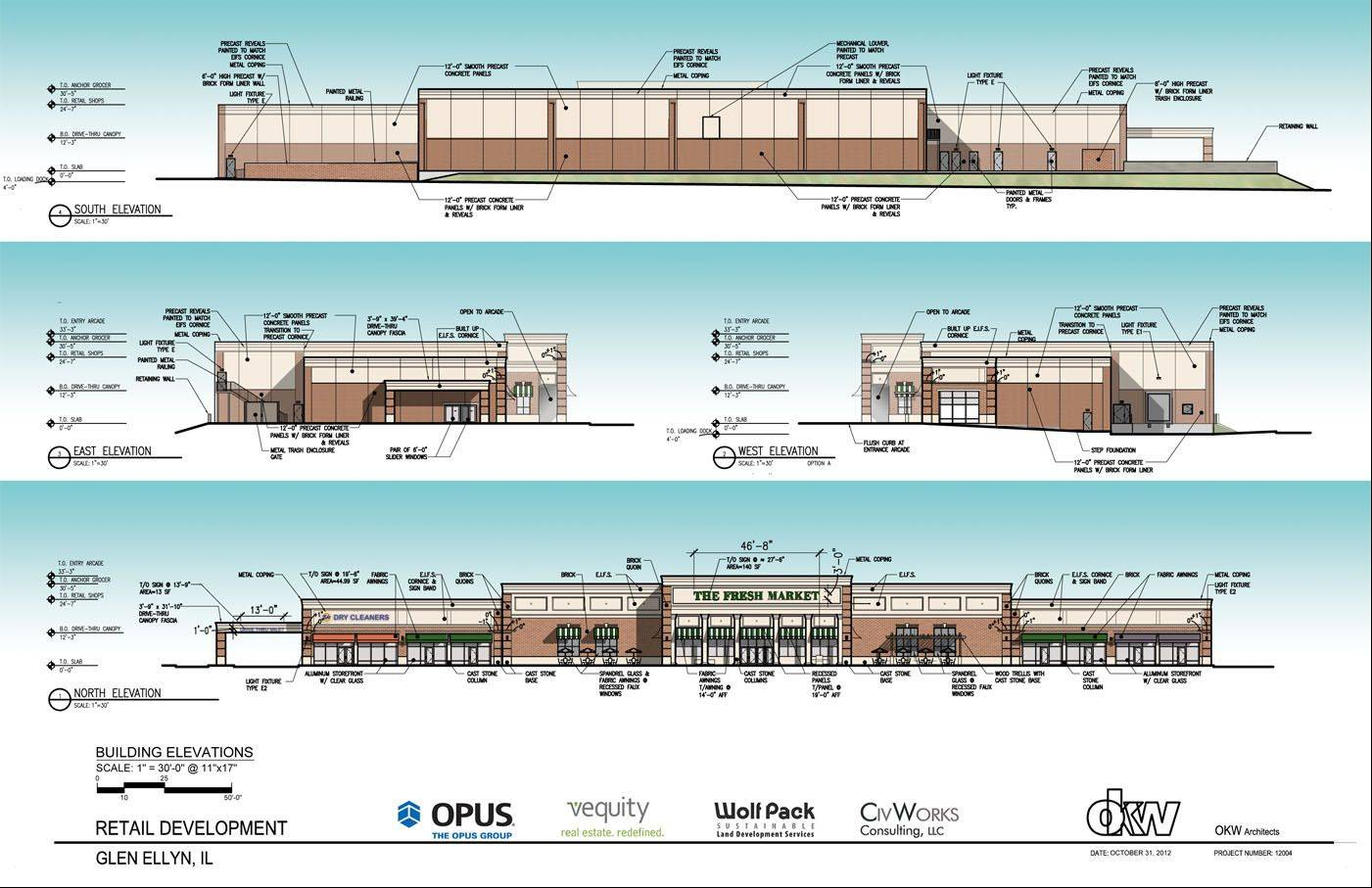 The Fresh Market grocery store is expected to open later this year on Roosevelt Road in Glen Ellyn.