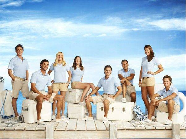 "The cast of ""Below Deck,"" which premieres Monday on Bravo."