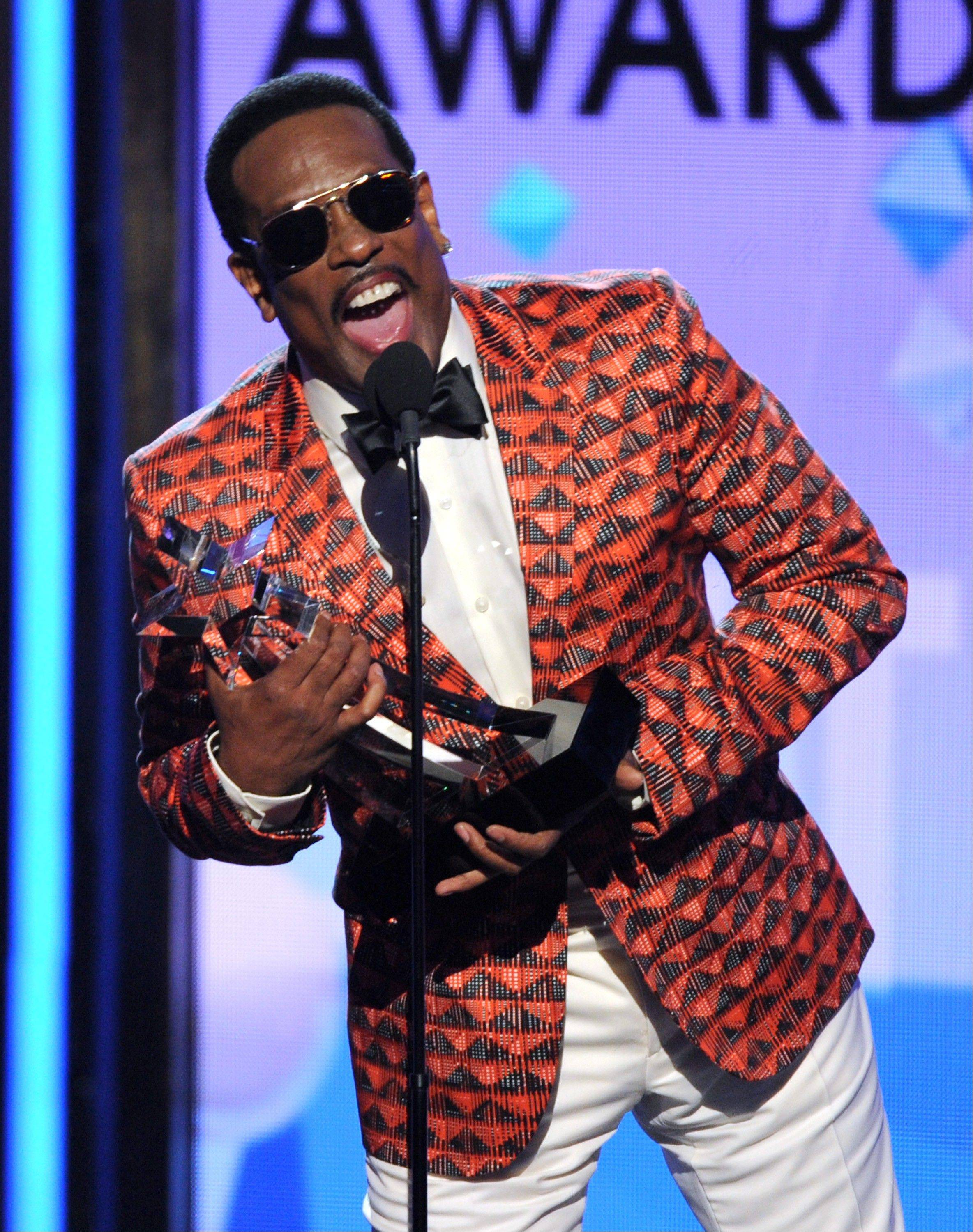 Charlie Wilson accepts the lifetime achievement award at the BET Awards Sunday.
