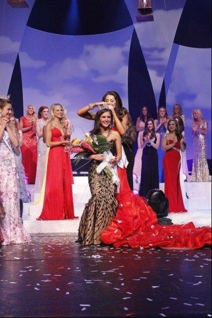 Brittany Smith of Elmhurst was crowned Miss Illinois on Saturday in Marion.